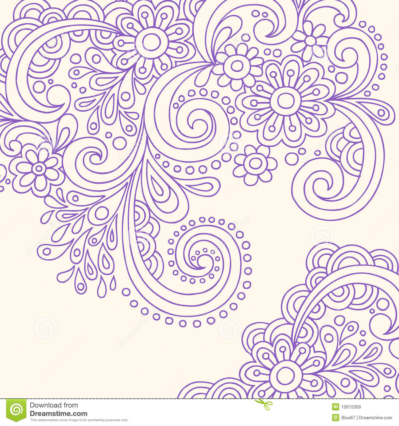 17 paisley flower tattoo designs clipart vector of for Swirl tattoo designs