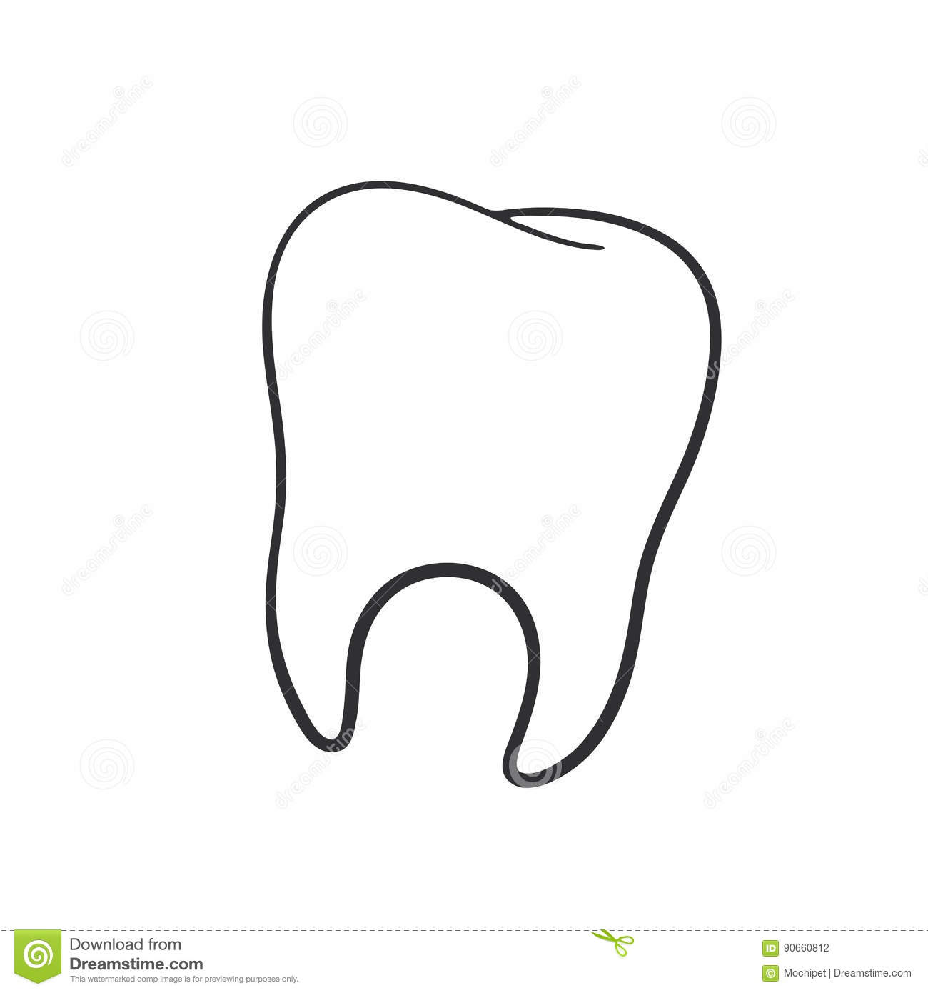 image of the human tooth royalty
