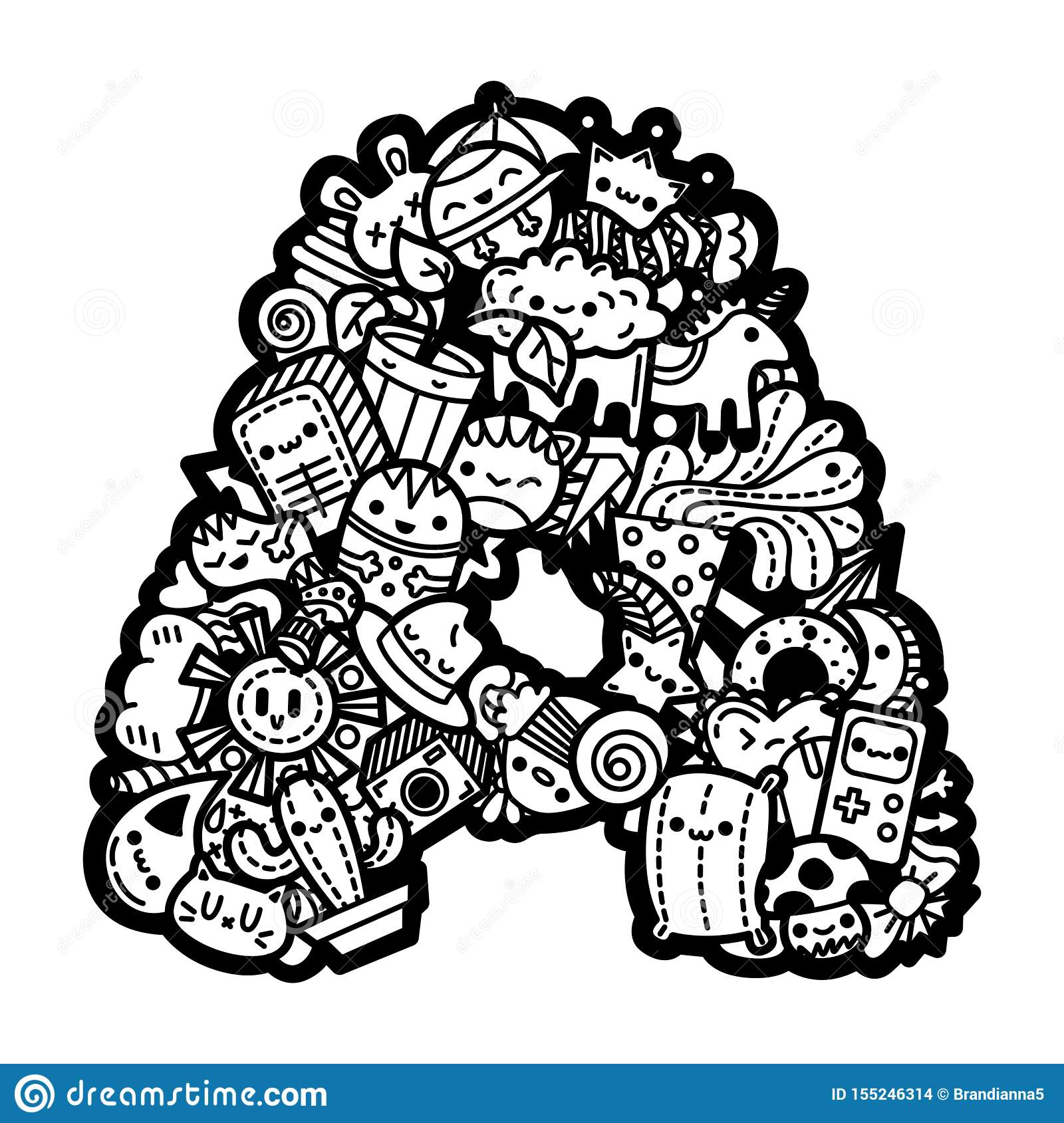 Cute Foods Coloring Pages Free - Coloring Home | 1689x1600