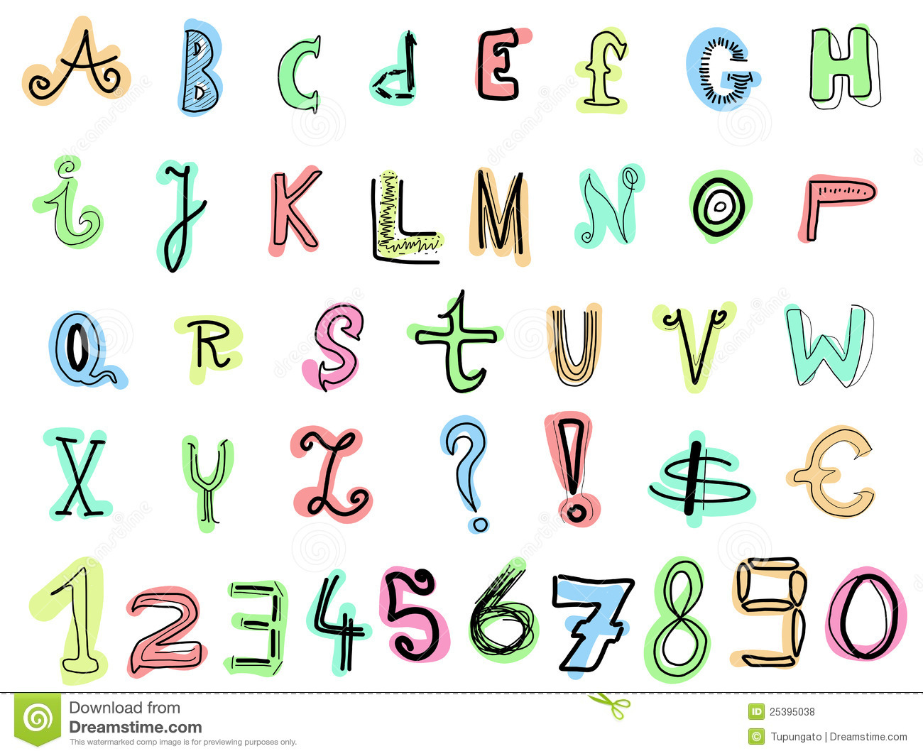 bubble writing a to z