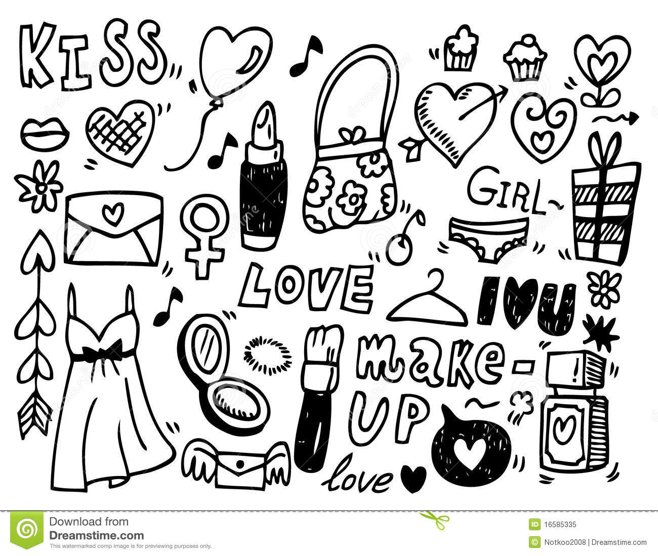 Doodle love stock vector. Illustration of emotions ...