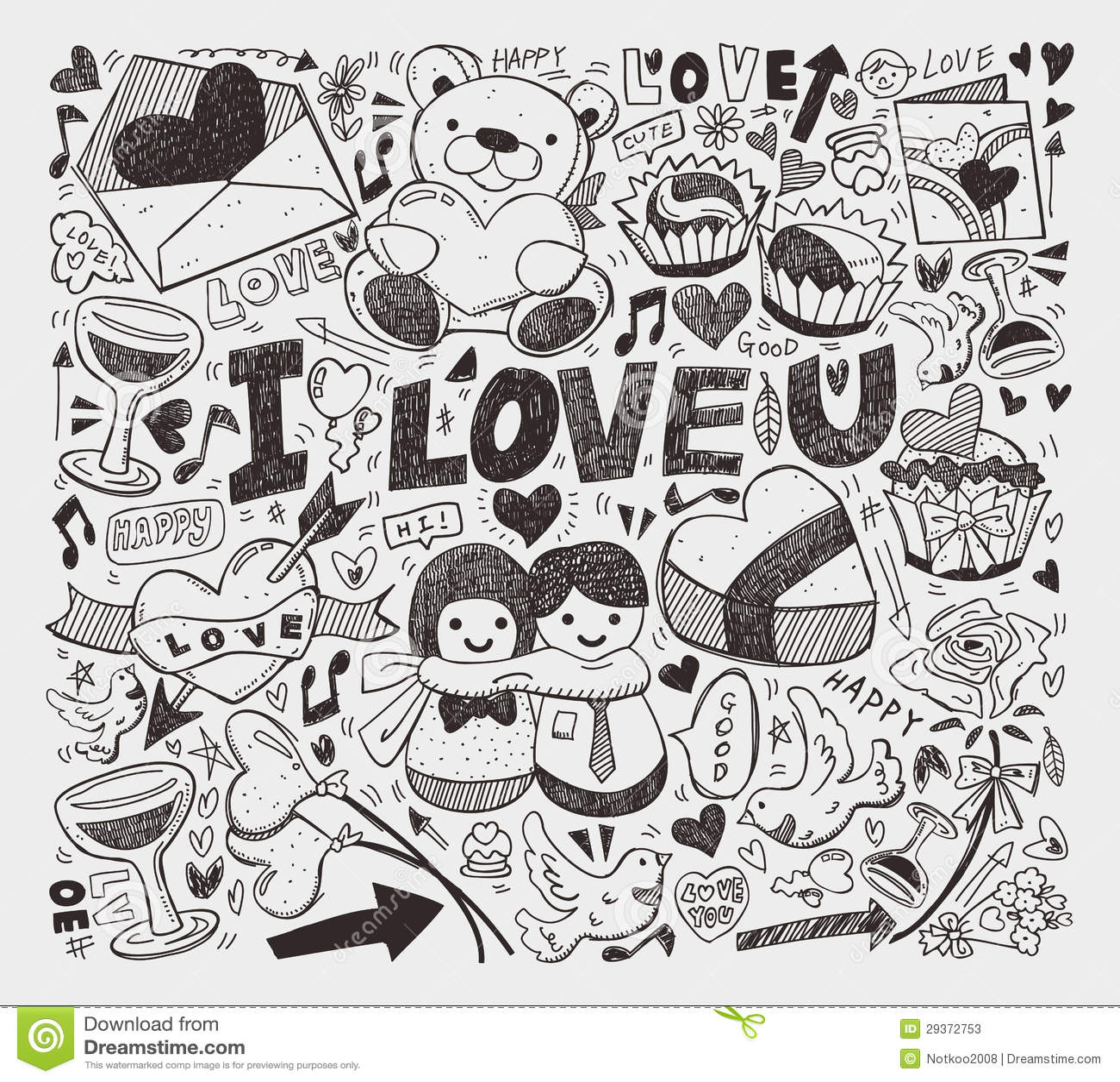 Doodle Love Element Stock Photos Image 29372753