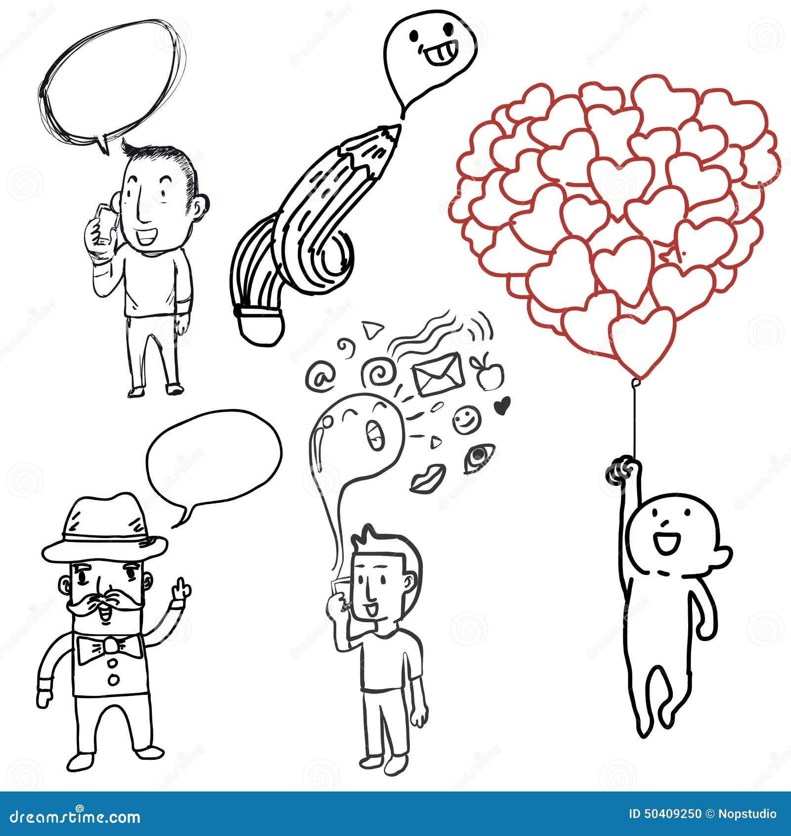 Doodle man stock vector  Illustration of blond, avatar - 50409250