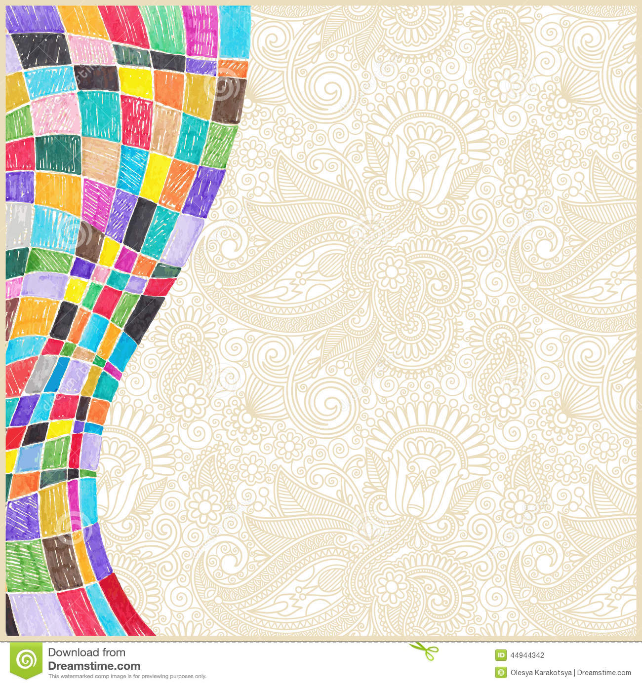 Doodle Marker Drawing Abstract Background Design Stock
