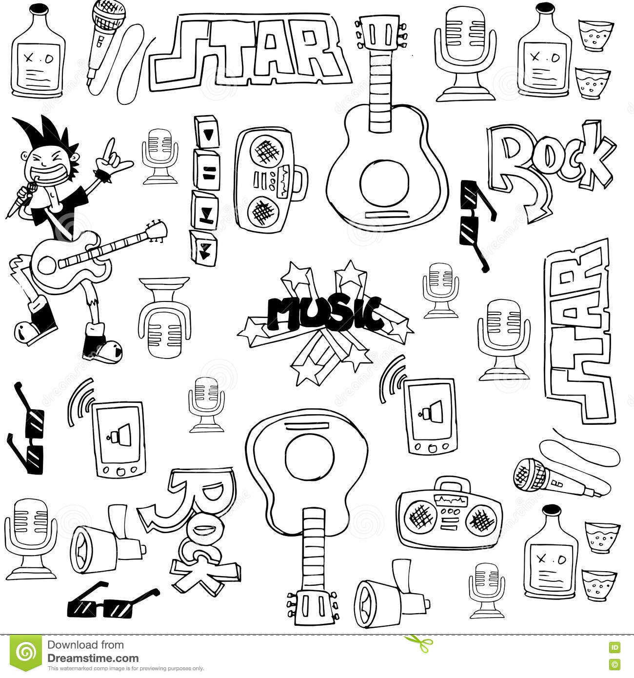 Doodle of music symbols stock vector illustration of illustration doodle of music symbols biocorpaavc Images