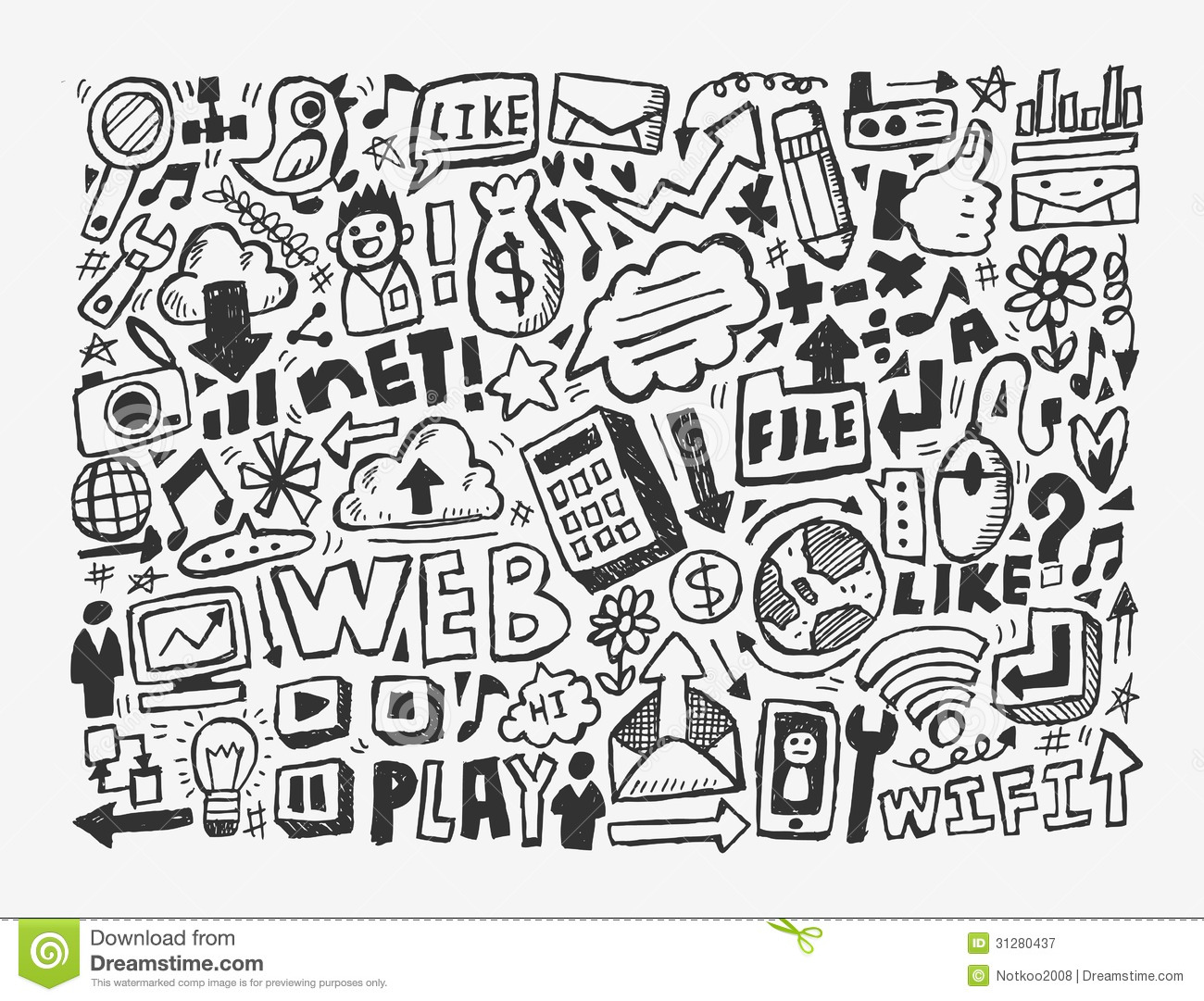 Doodle Network Element Royalty Free Stock Photography ...