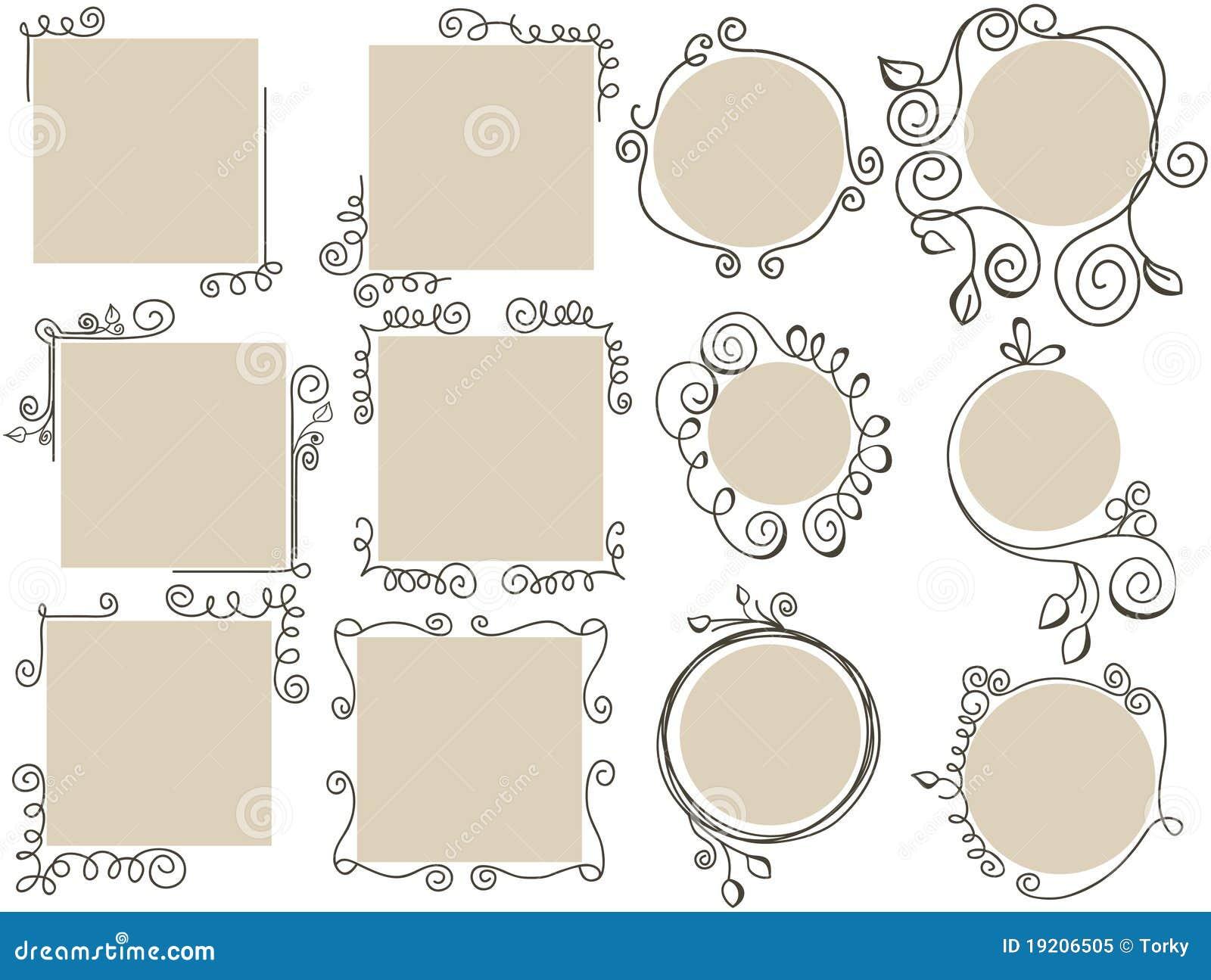 Doodle obramia set