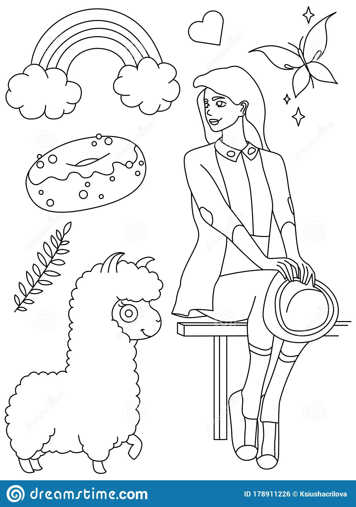 Free Fashion Coloring Pages For Girls Printable, Download Free ... | 1689x1186