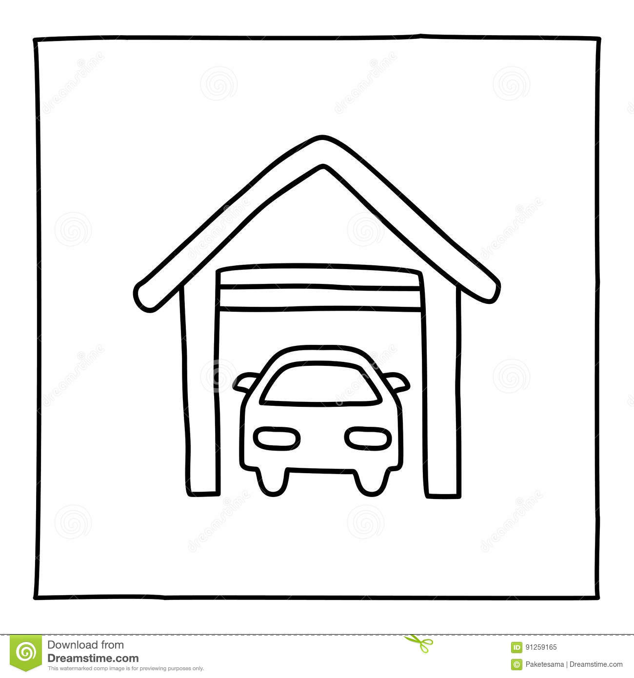 car garage coloring pages - photo#18