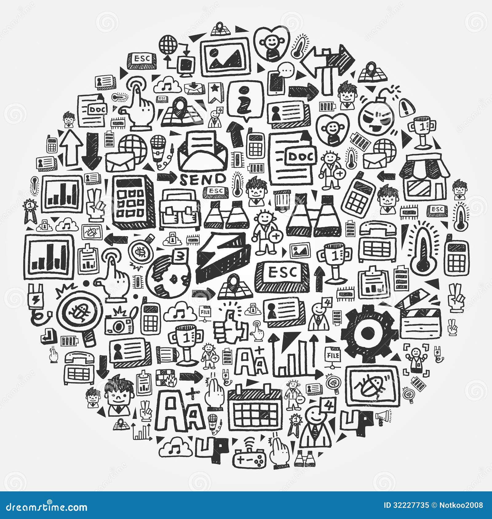 Vector Illustration Web Designs: Web Circle Royalty Free Stock Photo