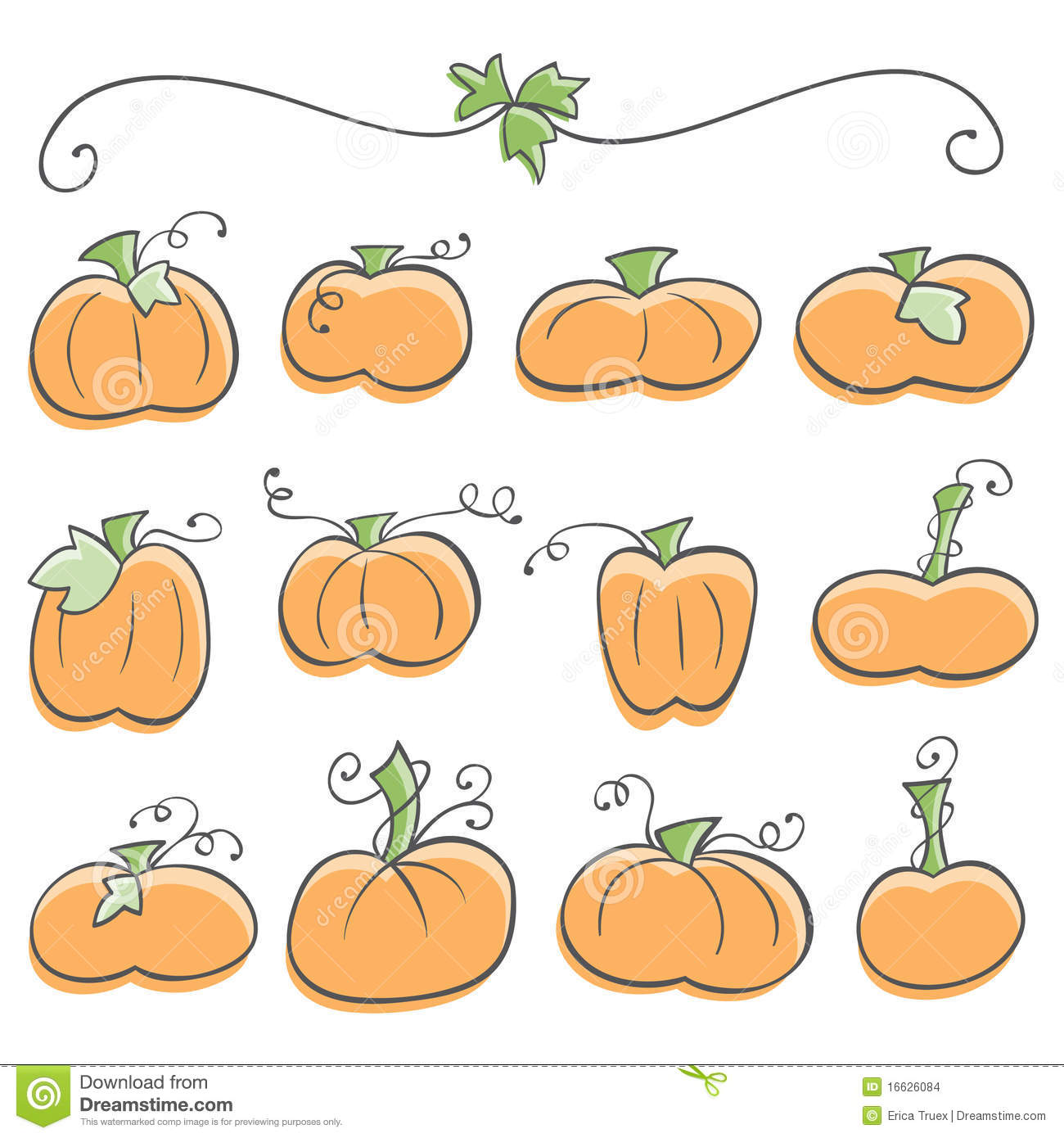 doodle pumpkin elements stock vector image of fall  icon gord clipart free ground clip art for kids
