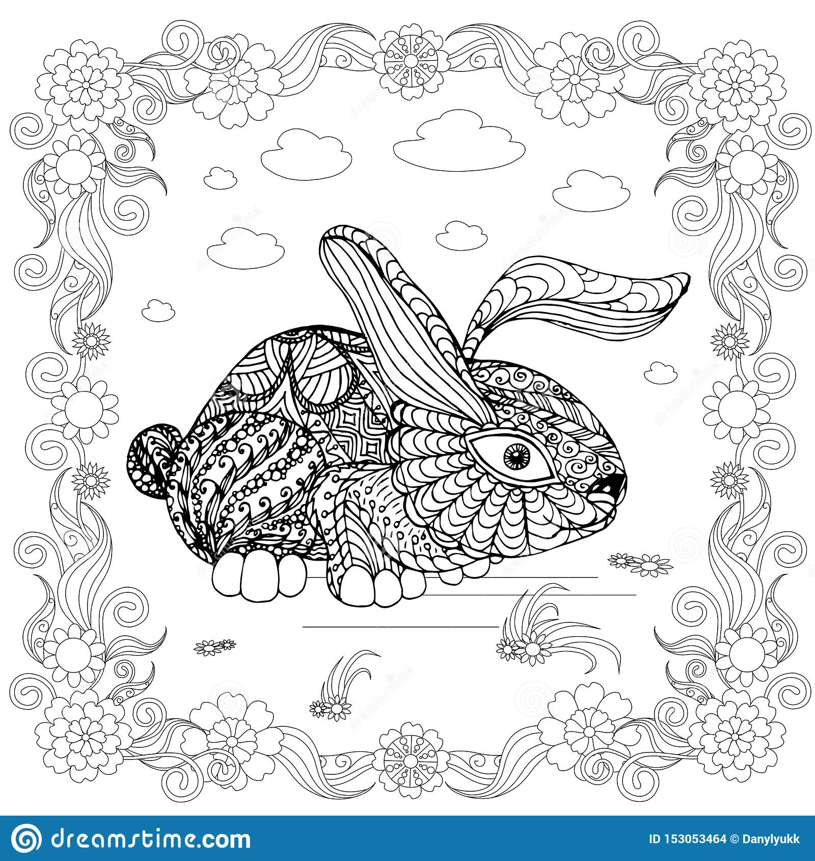 Cute Bunny Coloring Pages Baby Printable Here Are Of Bunnies ... | 1689x1600