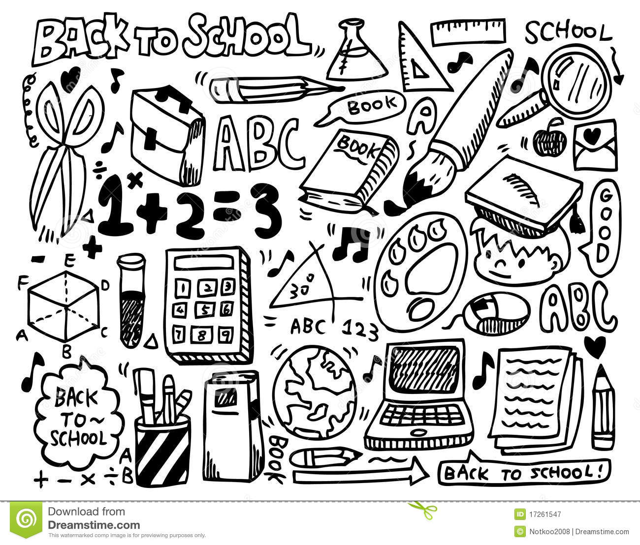 Doodle school royalty free stock photography image 17261547
