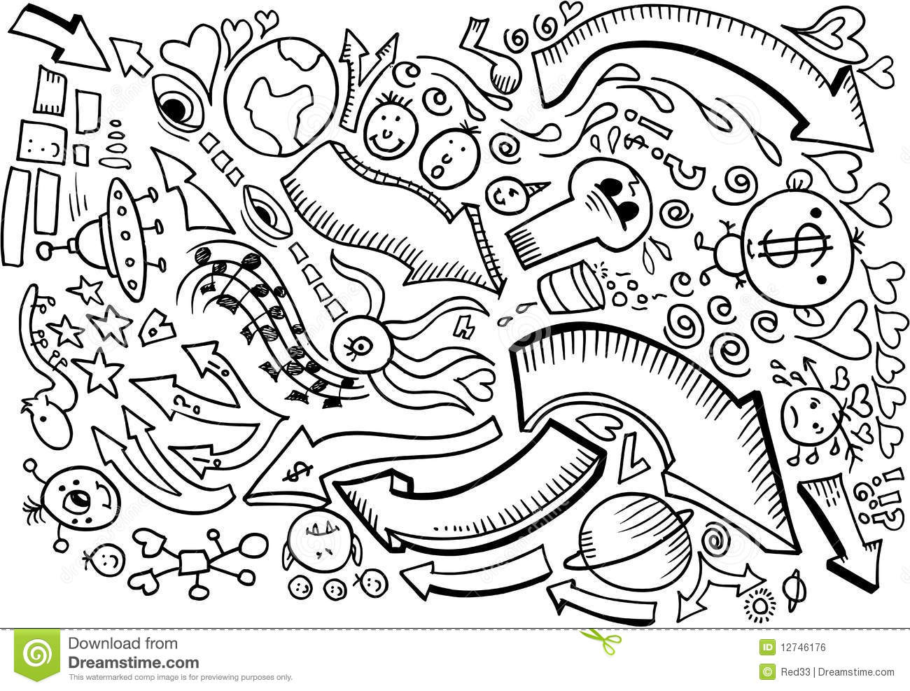 Doodle Sketch Drawing Vector Stock Vector Illustration