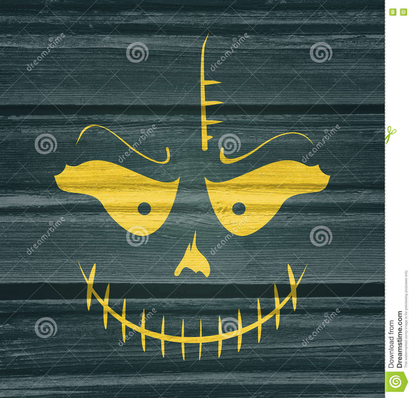 Doodle Skull With Evil Laugh Stock Illustration