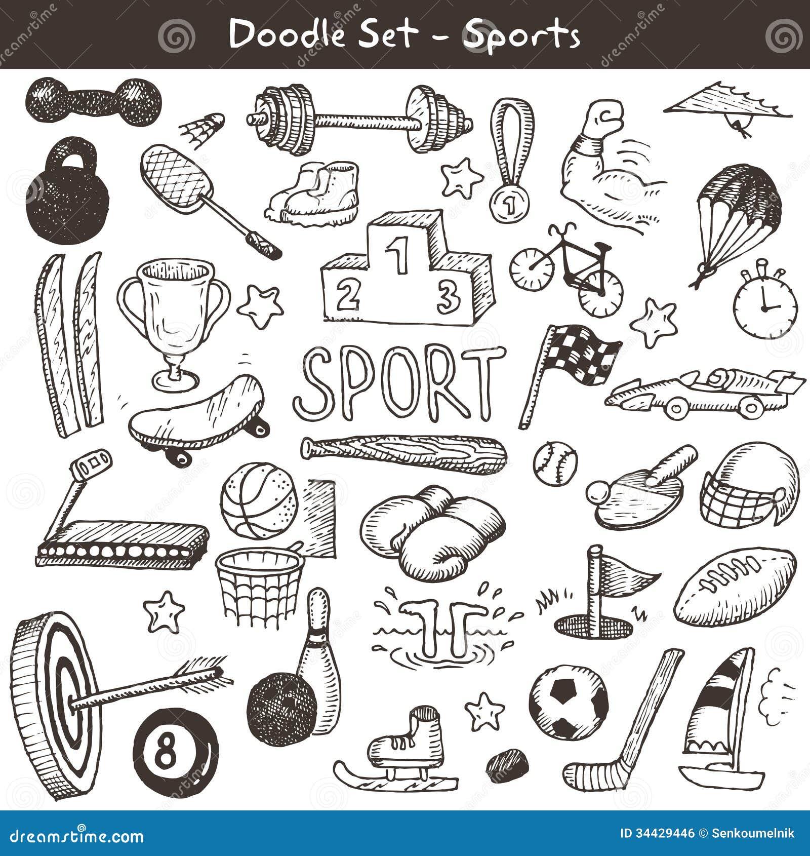 Doodle sporty.