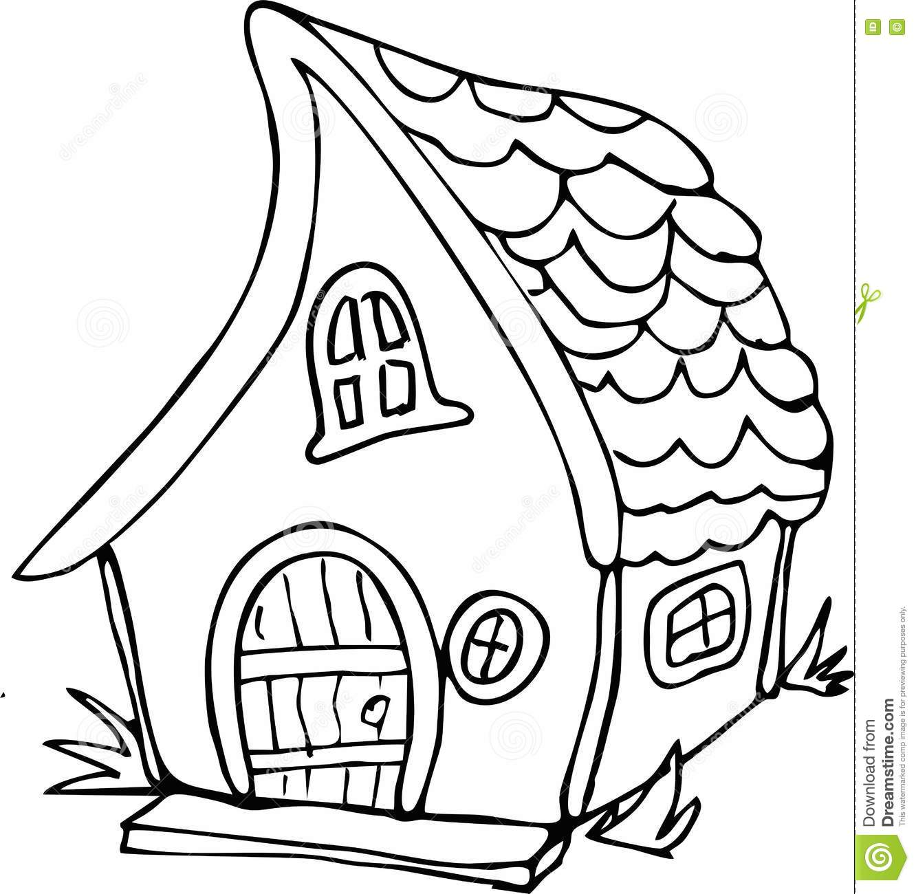 Royalty Free Vector Download Doodle Style Fairy House