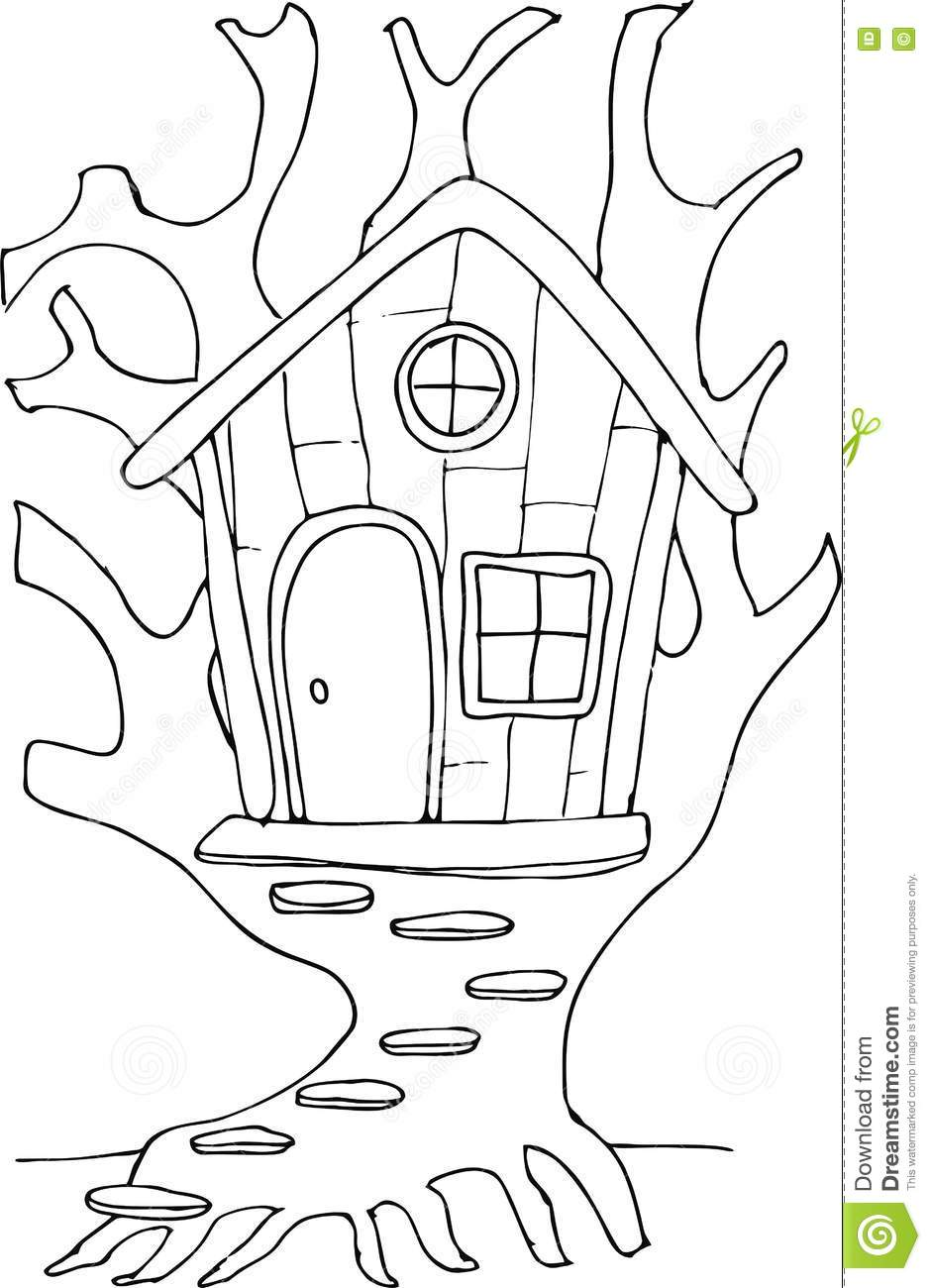 Royalty Free Vector Download Doodle Style Fairy Tree House
