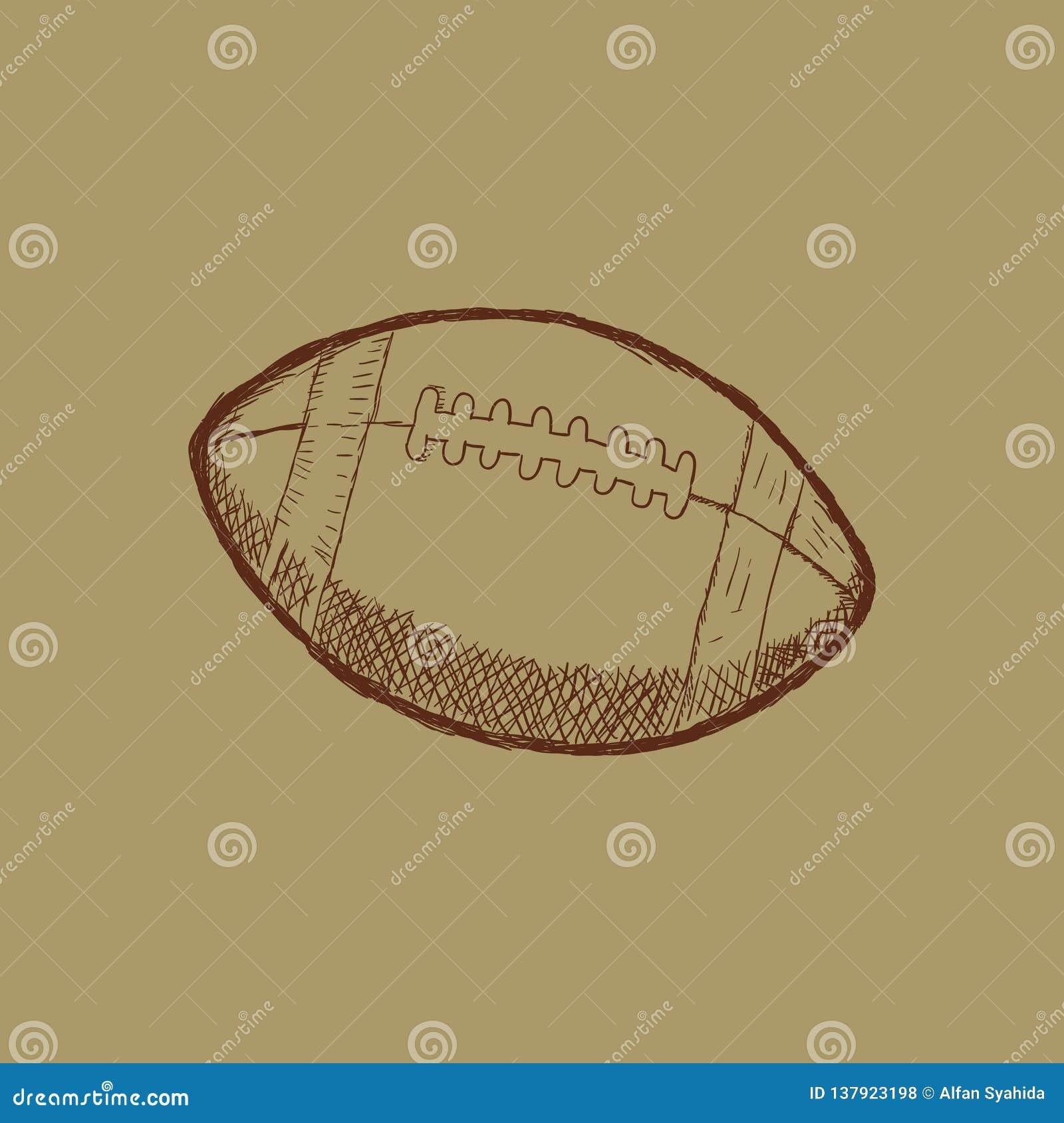 Doodle stylowy futbol amerykański bawi się ilustrację w formacie - wektor