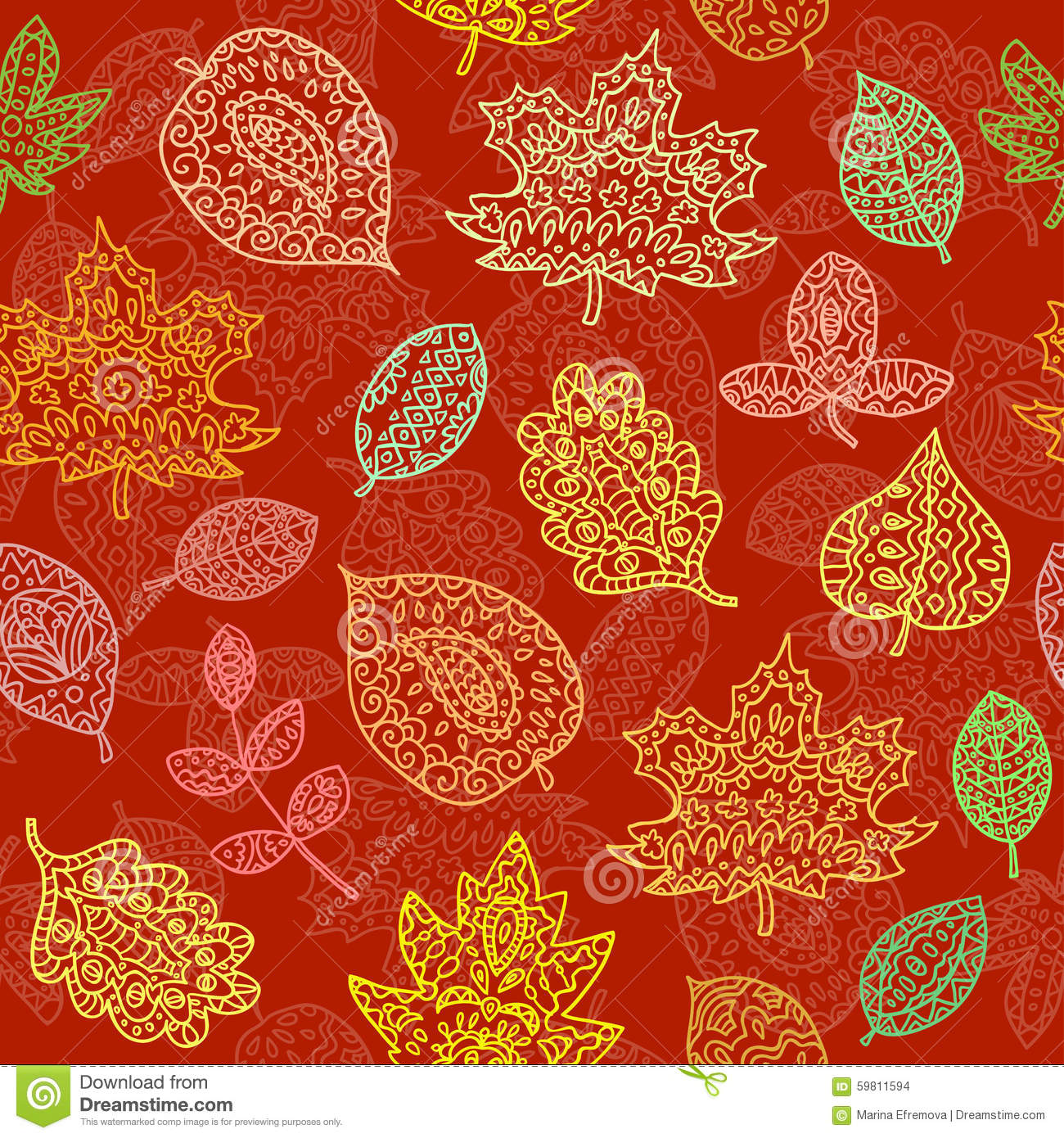 leaves seamless pattern. Endless texture can be used for printing onto ...