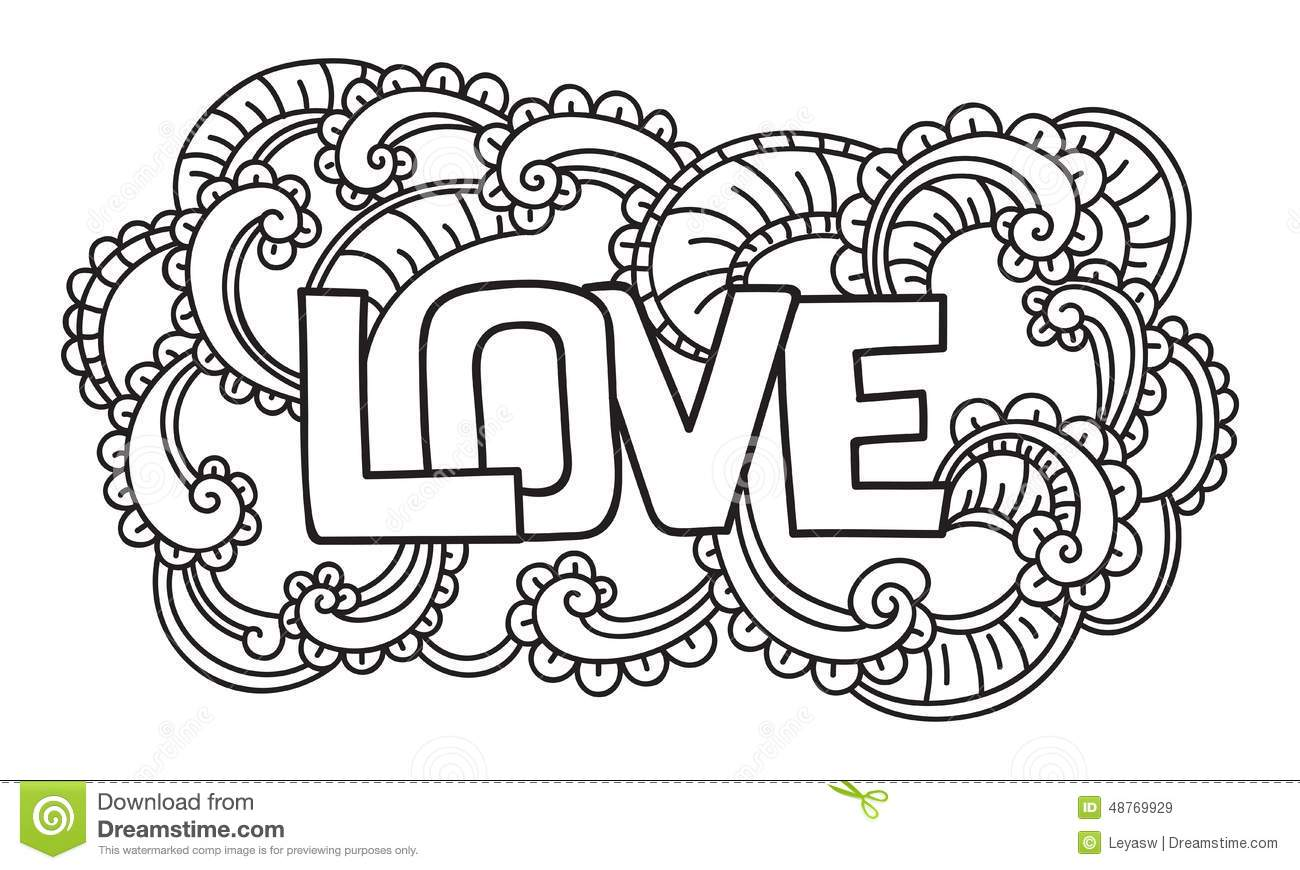 Doodle On Valentine\'s Day. Isolated Template. Vector Illustration ...