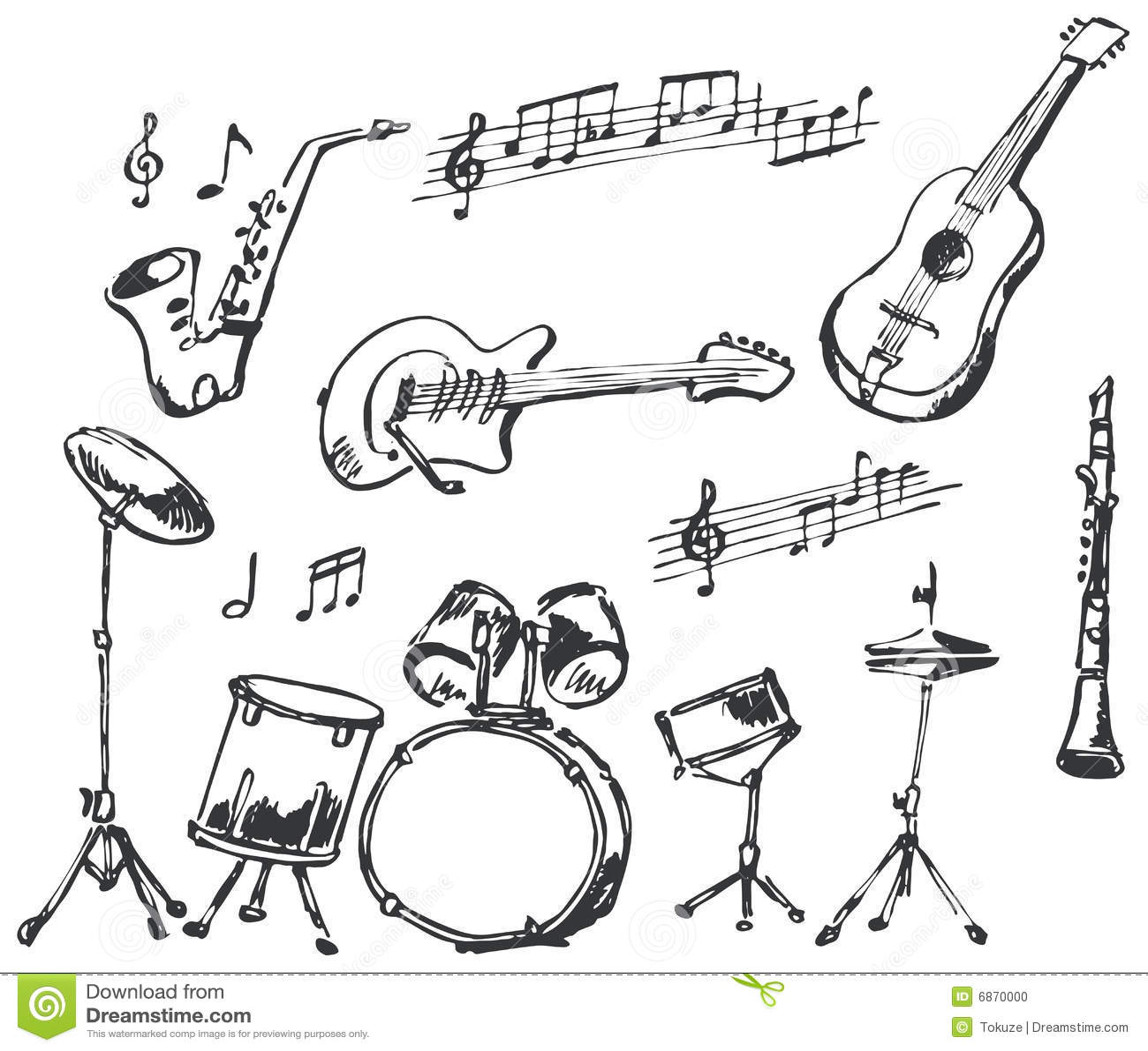 Doodles аппаратуры музыкальные