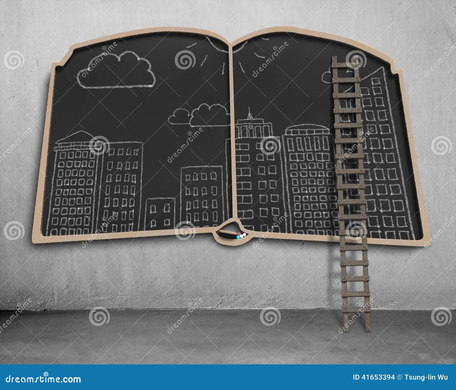 Doodles вида на город на классн классном формы книги