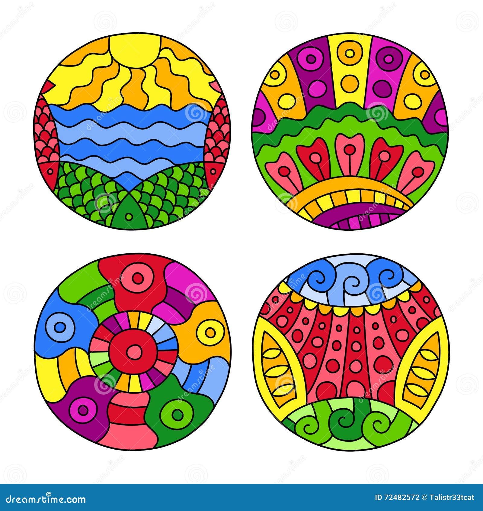 Doodles заполнили установленные круги