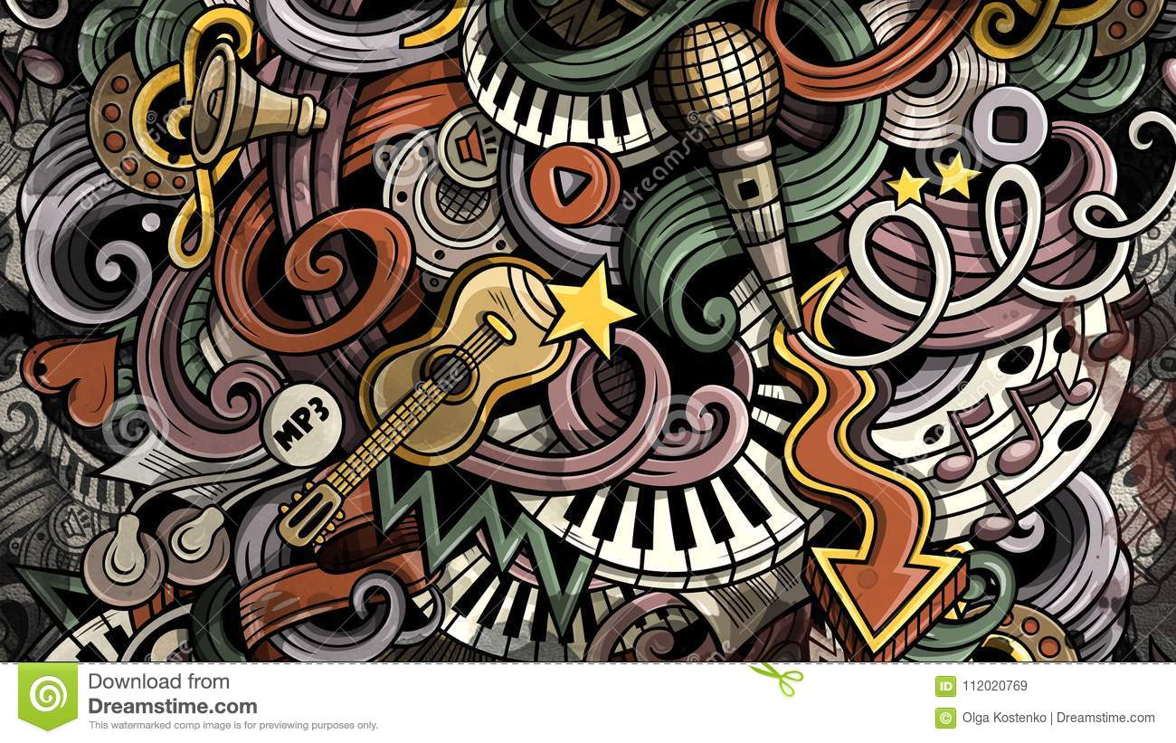 Doodles Music Illustration Creative Musical Background