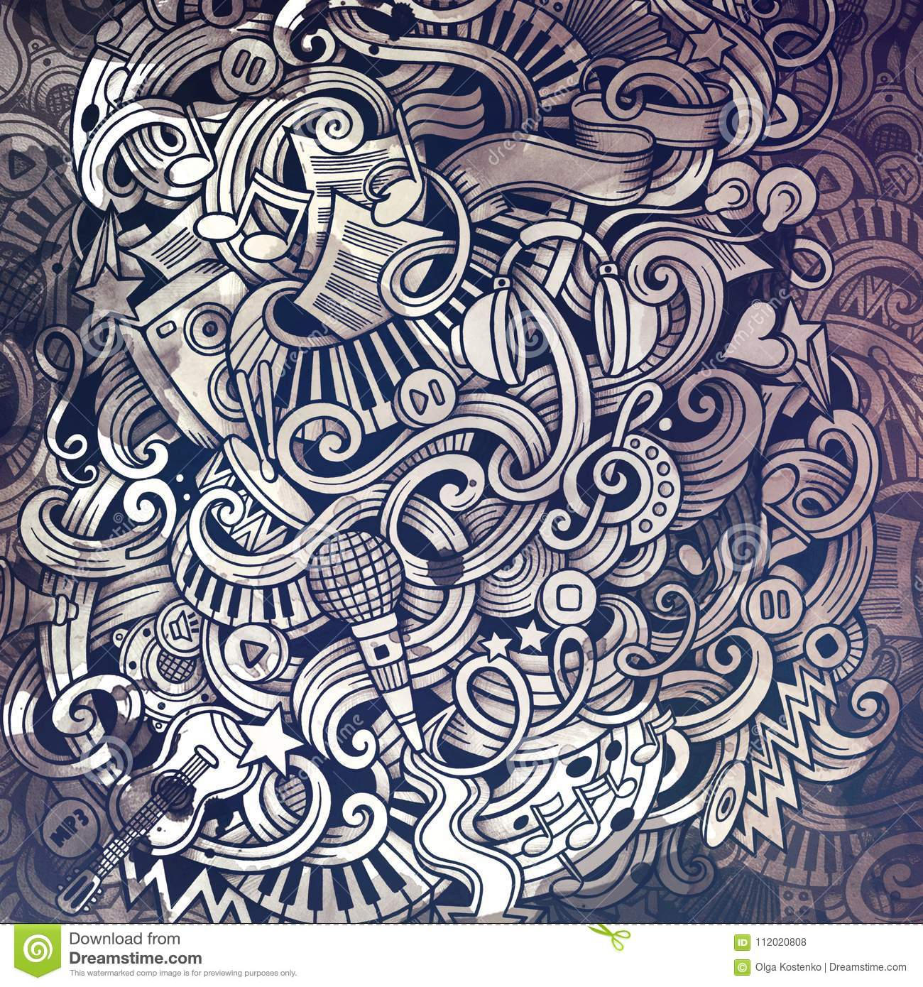 Doodles Musical Illustration Creative Music Background