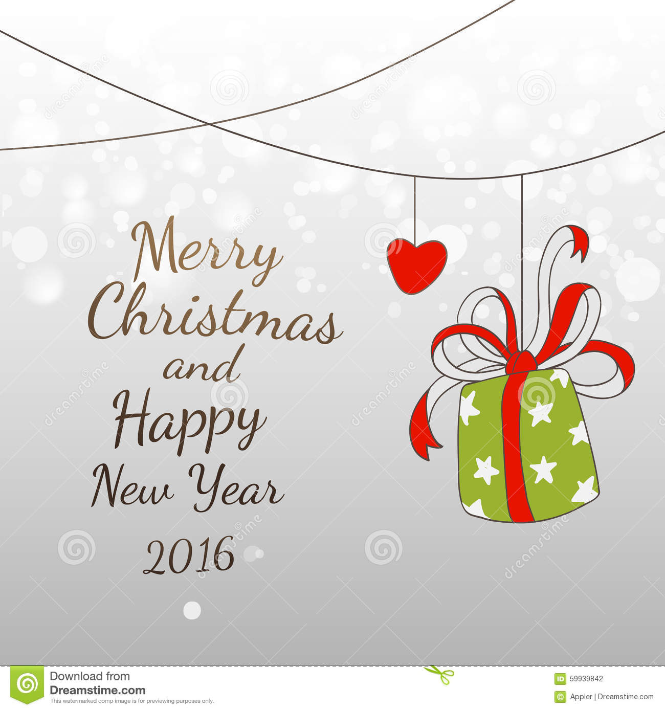 Easy Year To Travel On Christmas: Doodles New YEar And Xmas 2016 Easy Fun Card Design Stock