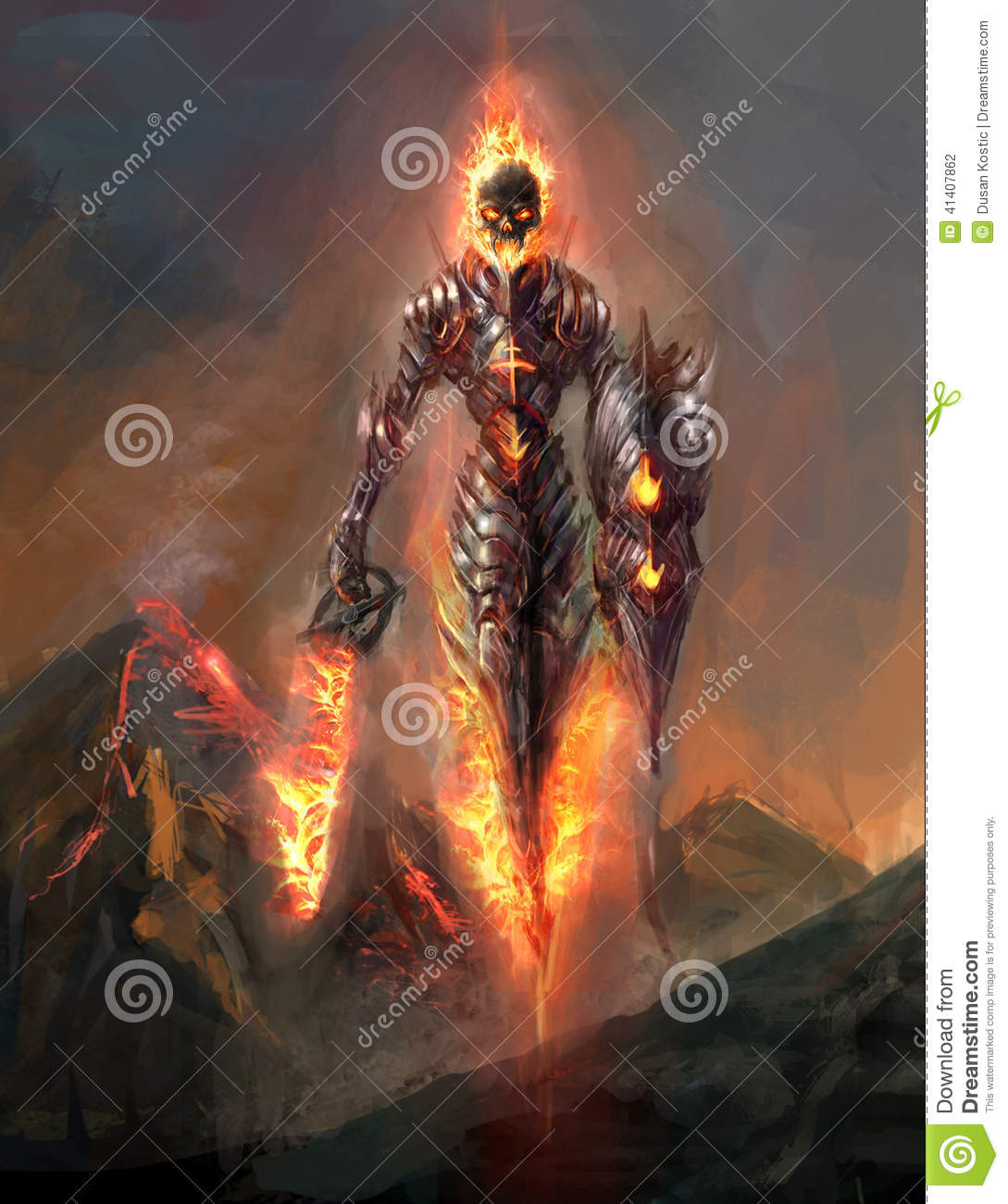 Doom stock illustration  Illustration of knight, armor