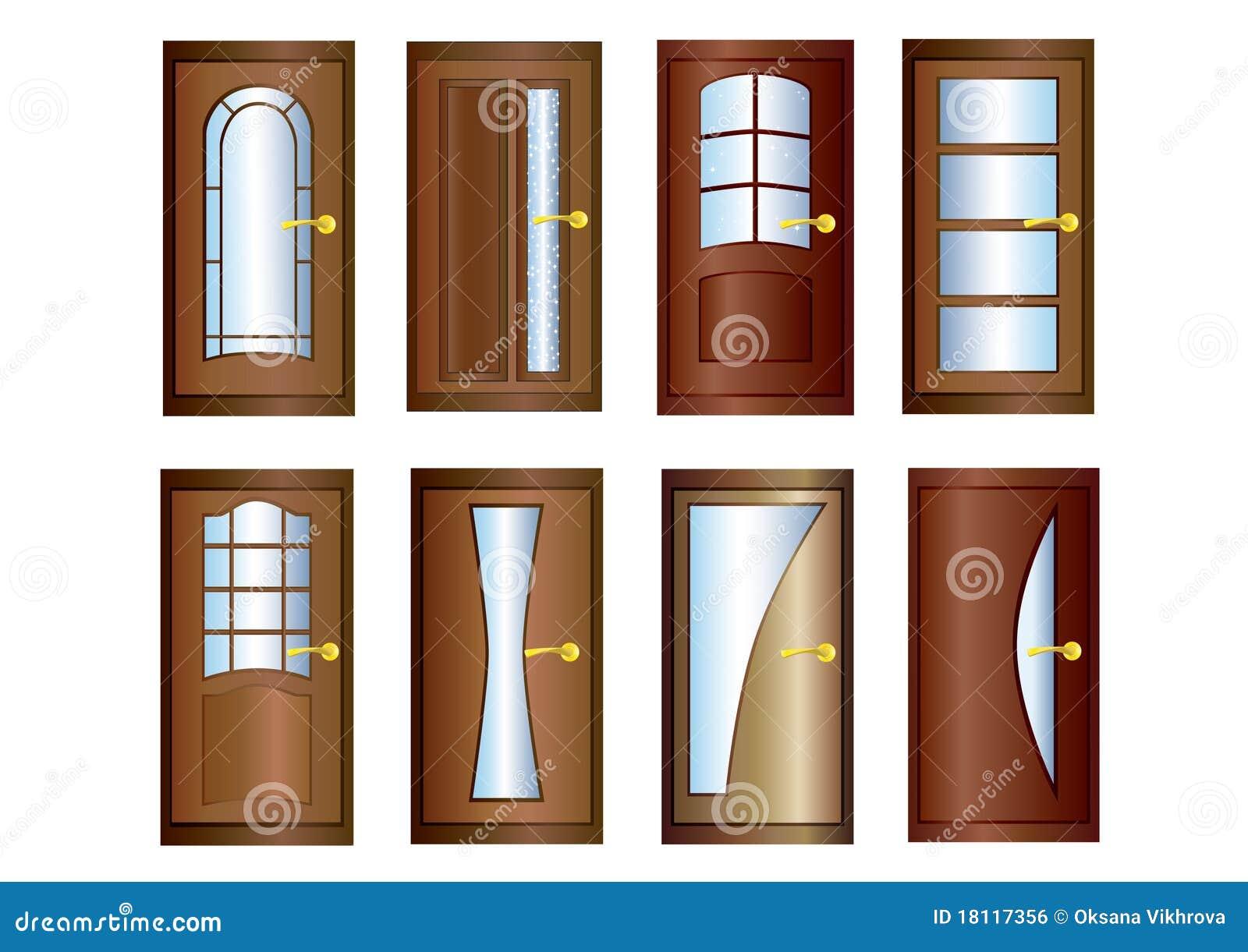 Door stock vector image of door gold board vertical for Door design with net