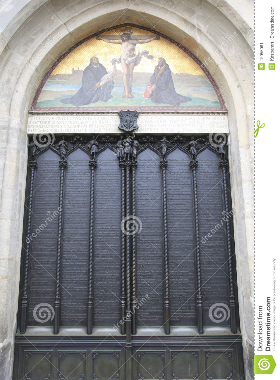 Door Of The All Saints' Church, Wittenberg Stock Image - Image ...