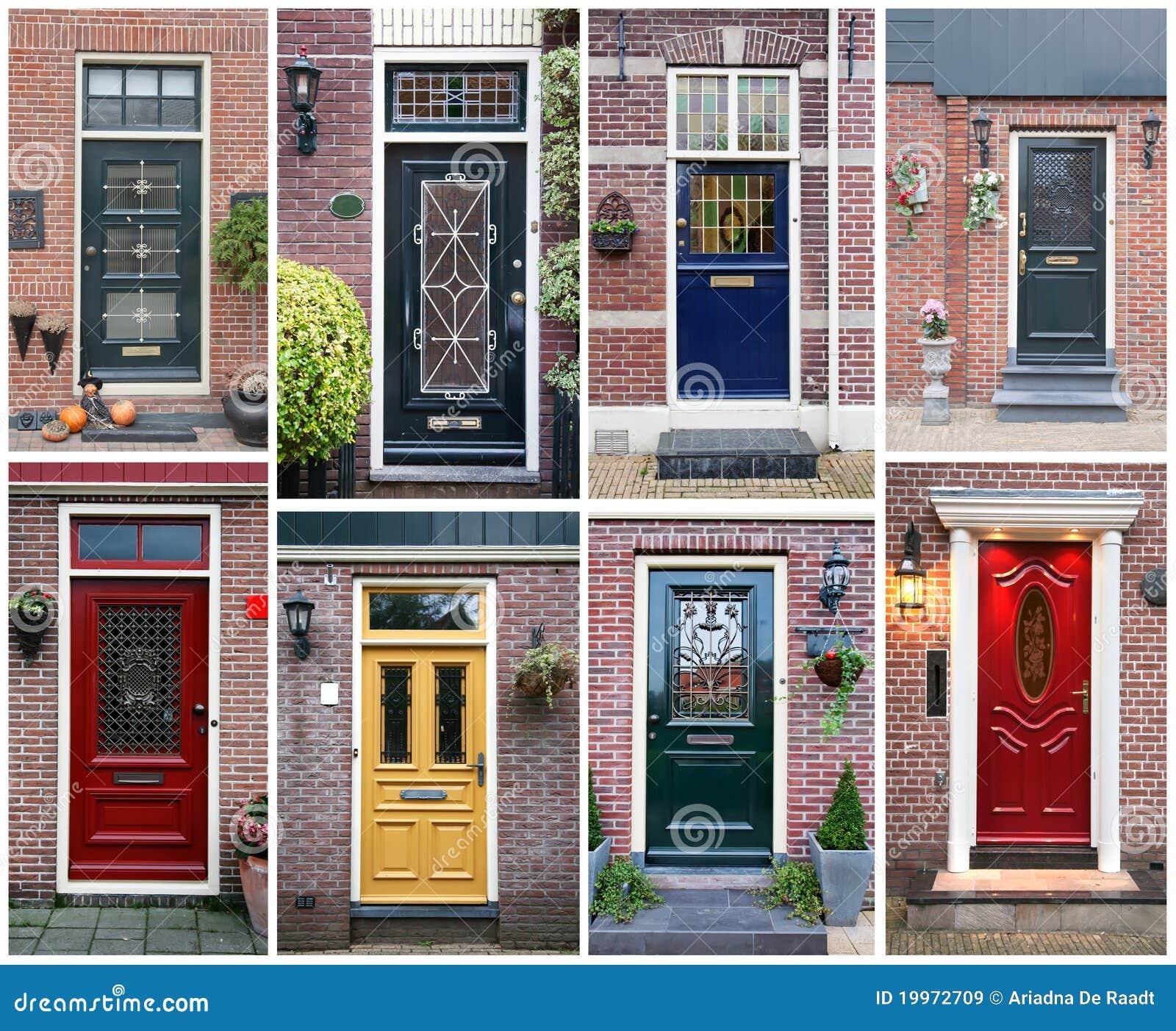 collage door ... & Front Door Background Royalty Free Stock Images - Image: 19972709 Pezcame.Com
