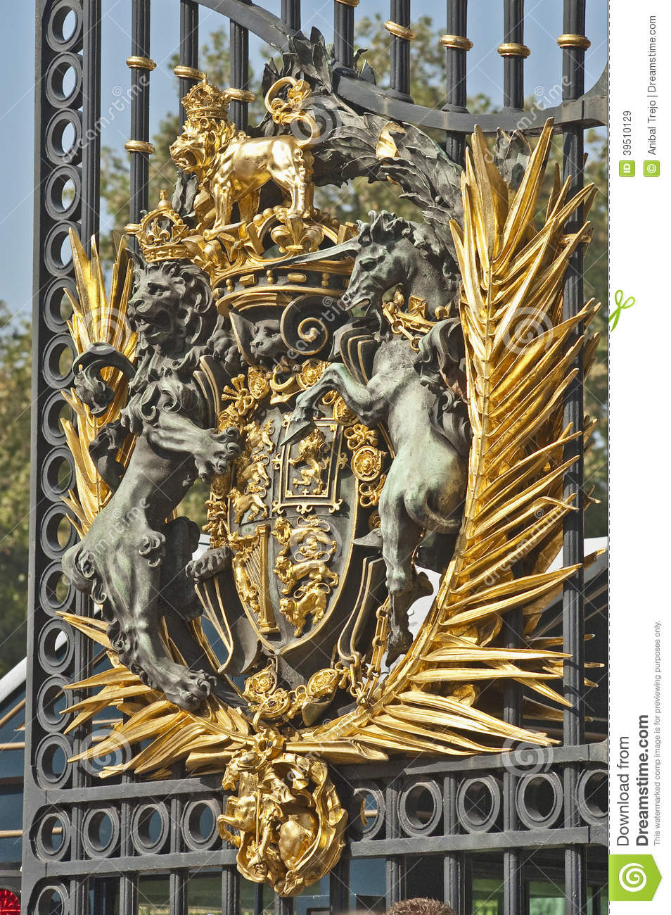 Door of the Buckingham Palace