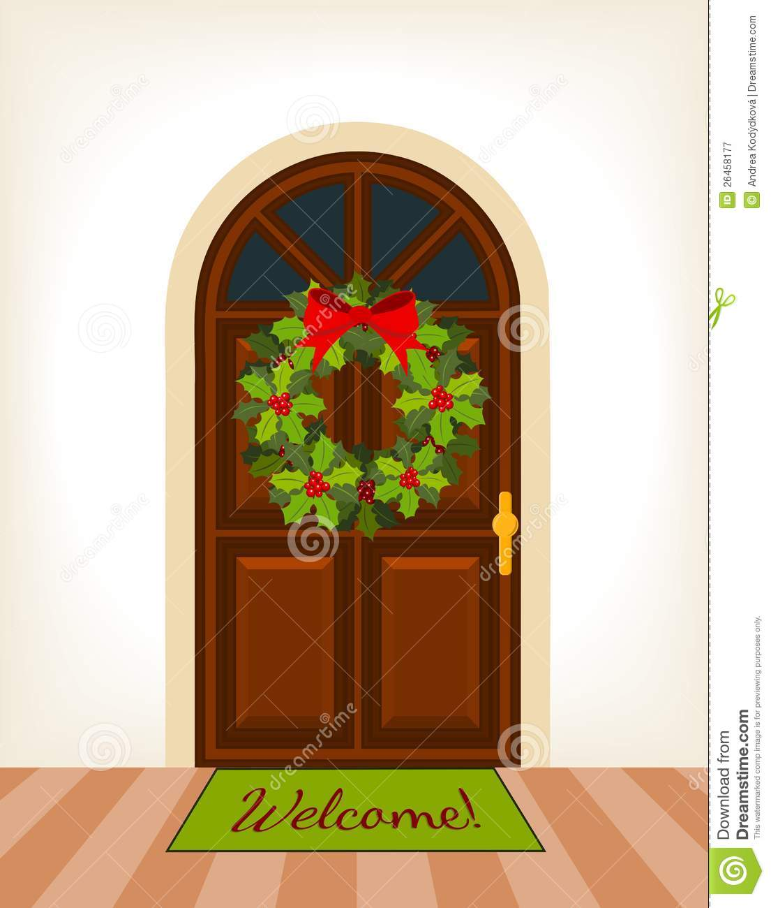 Christmas Front Door Clipart christmas front door clipart new year card with to design