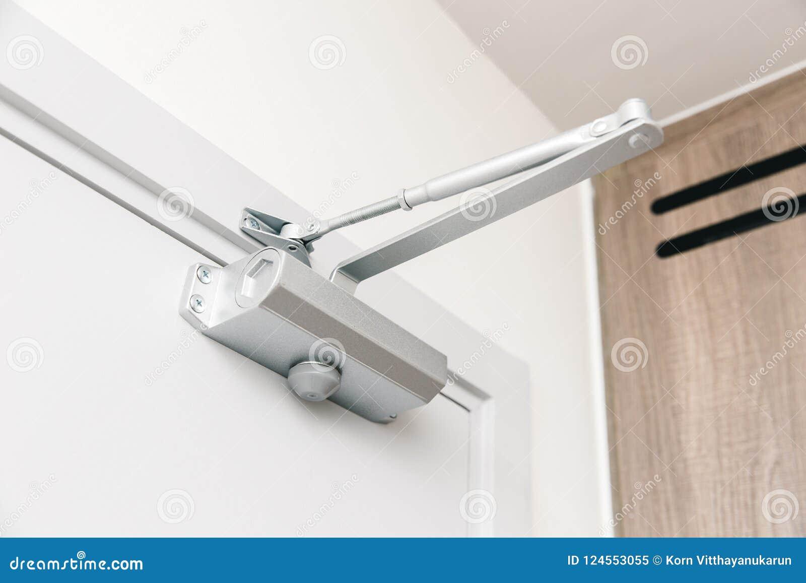 Door Closers Automatic Closing Door Device Stock Image