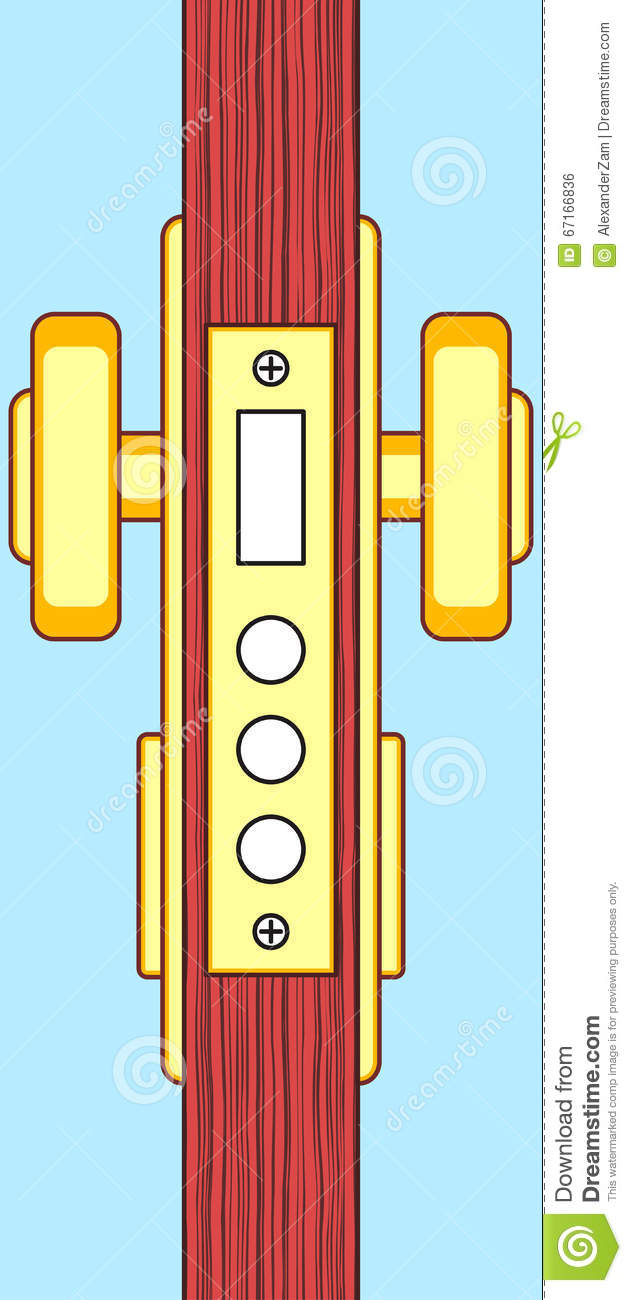 Door end view stock vector  Illustration of diametrical