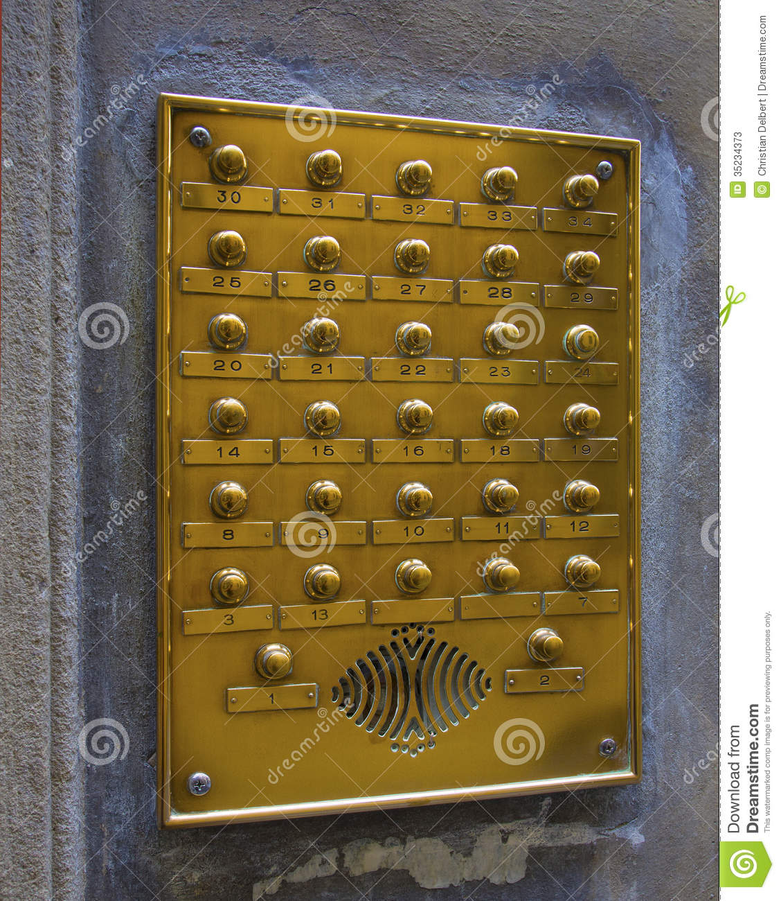 Front Door Intercoms: Door Entrance Intercom Stock Photos