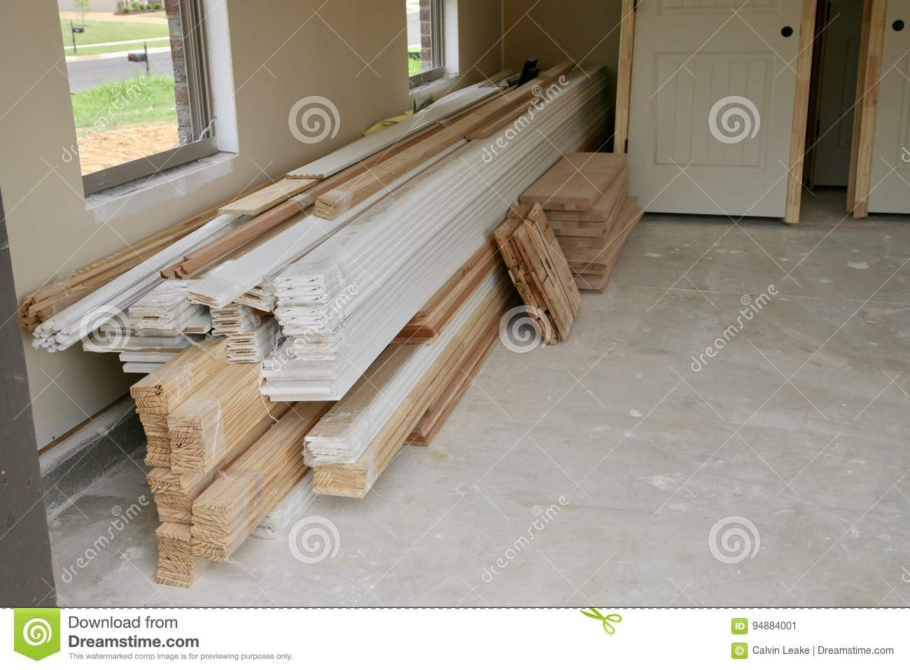 Door Framing Materials Stock Image Image Of Realty Remodel 94884001