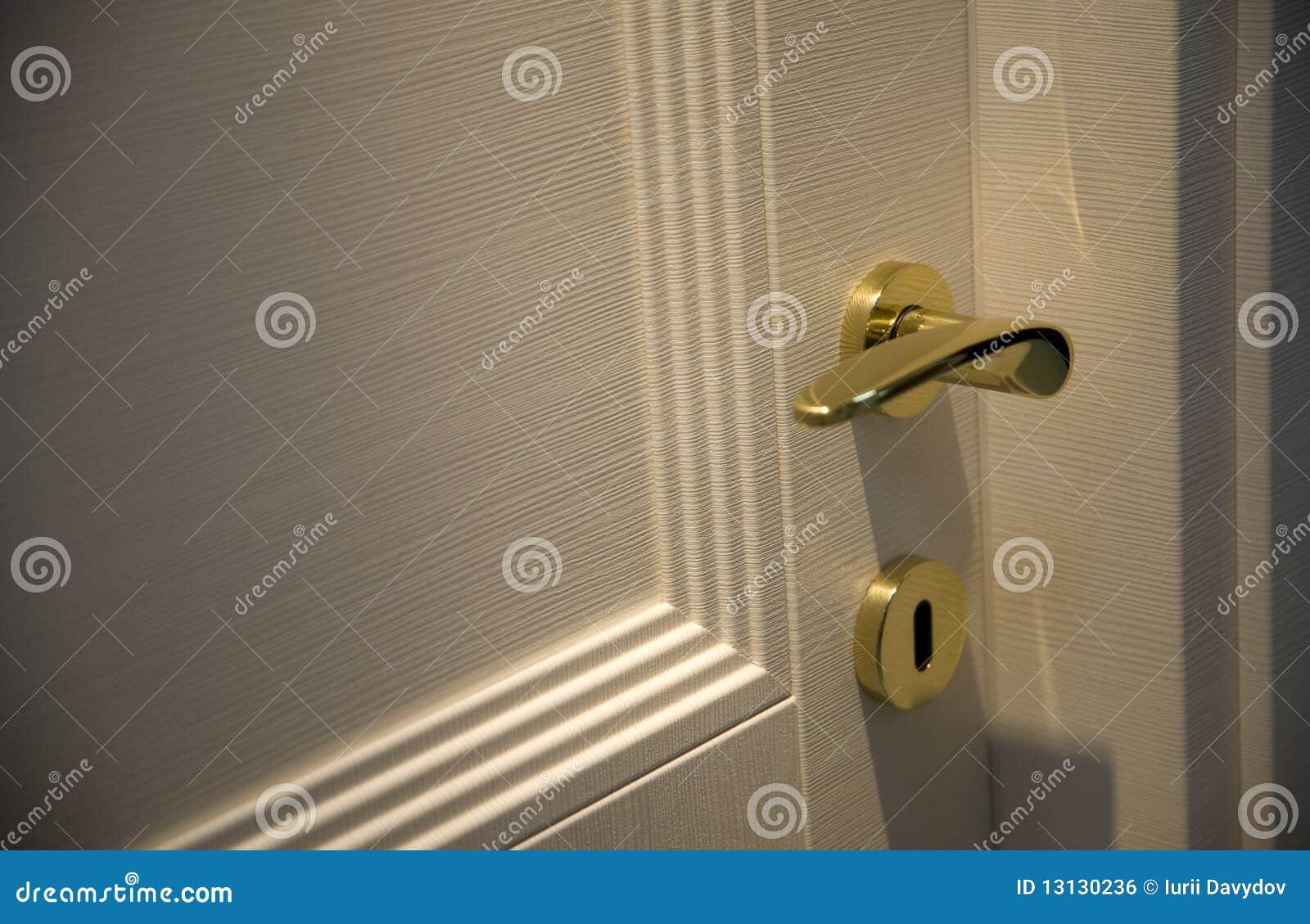Door Handle Gold Chrome Door Knob Stock Photo - Image: 13130236
