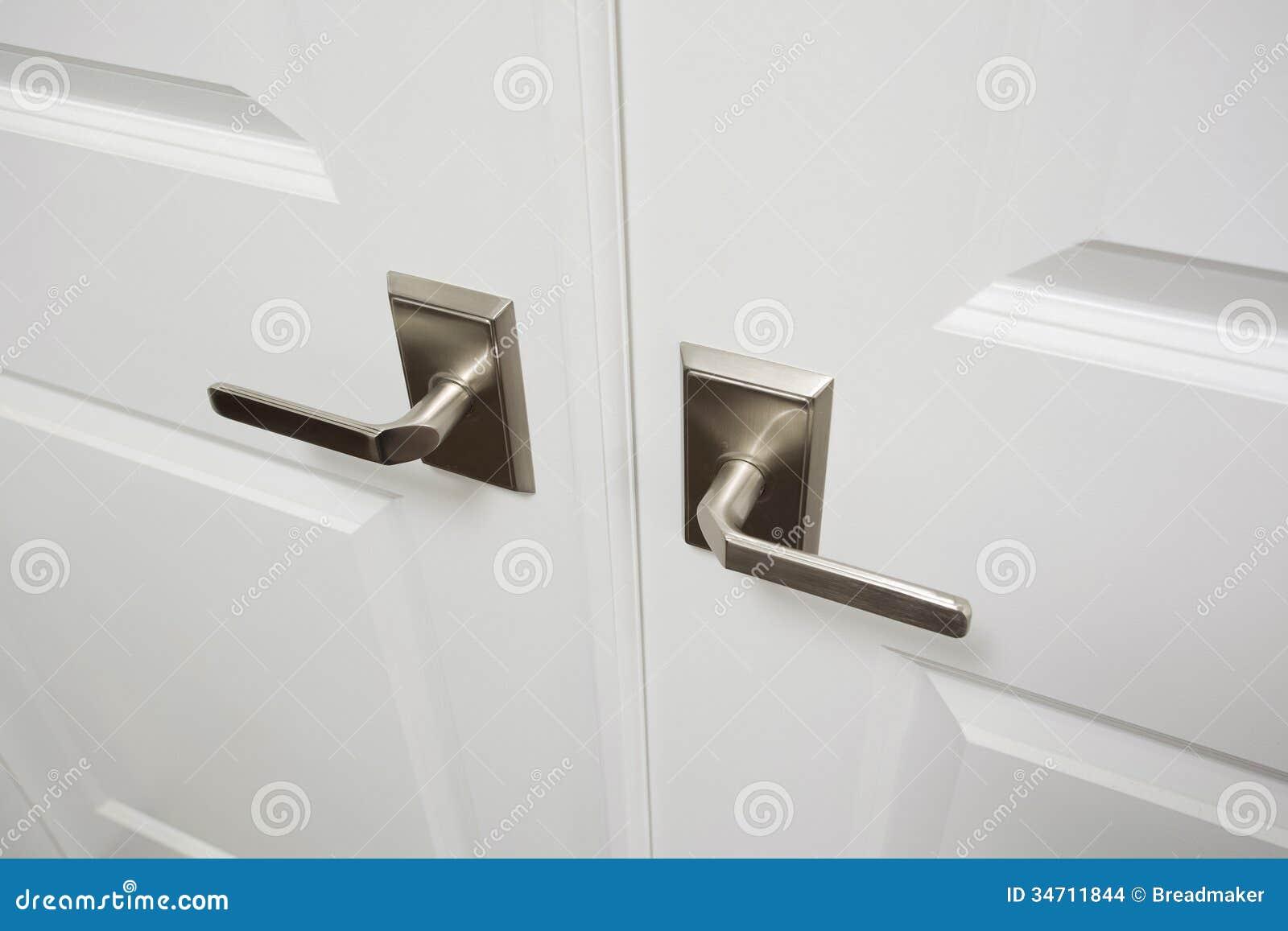 Door Handles Inside New Luxury Home Stock Images Image