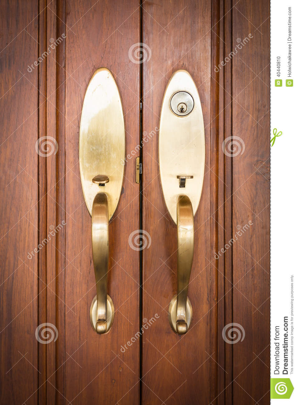 Door handles with key stock photo image 40440810 for Key drawer handles