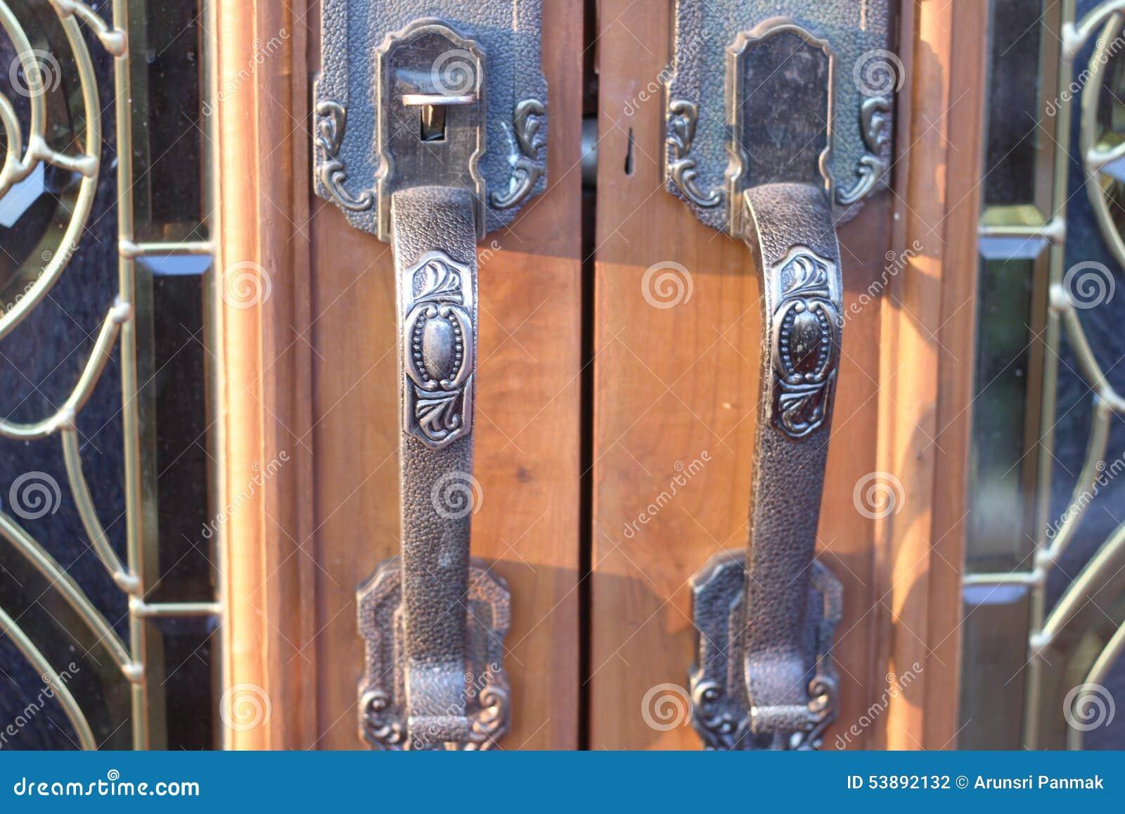 Door handles are metal pattern beautiful stock photo for Beautiful door handles