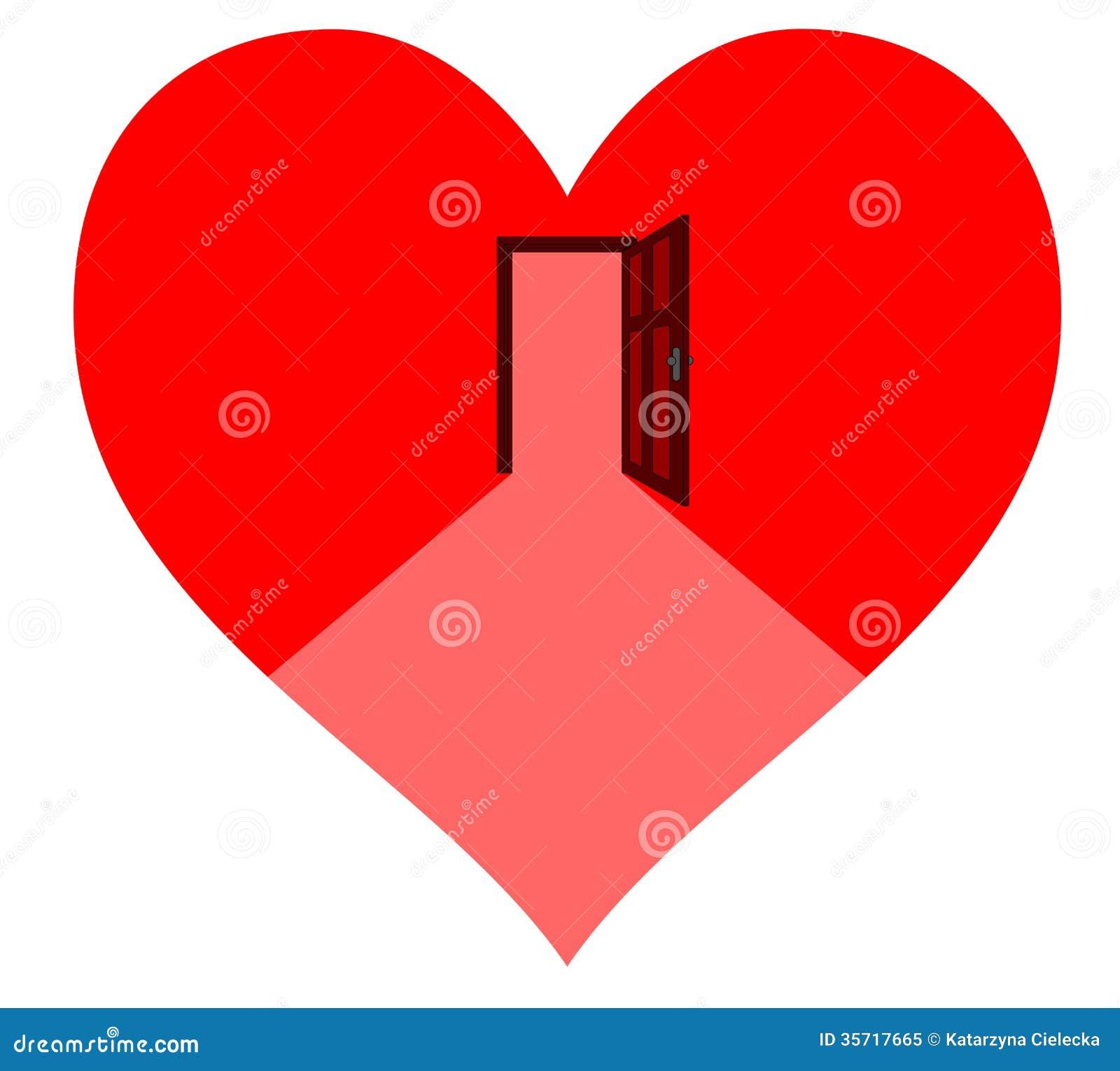 Door in the heart  sc 1 st  Dreamstime.com & Door in the heart stock vector. Illustration of illustration ...