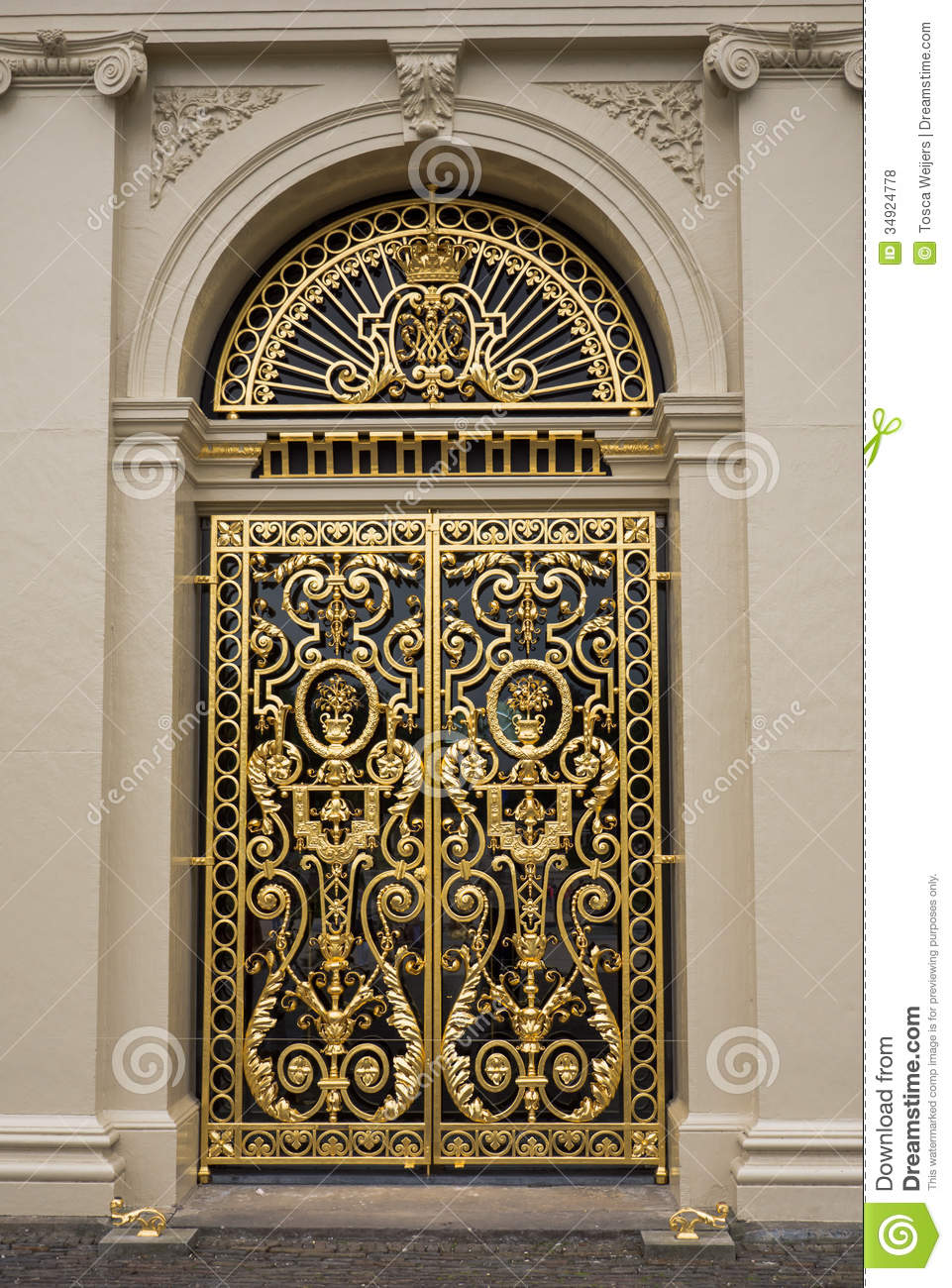 door at het loo palace  netherlands royalty free stock
