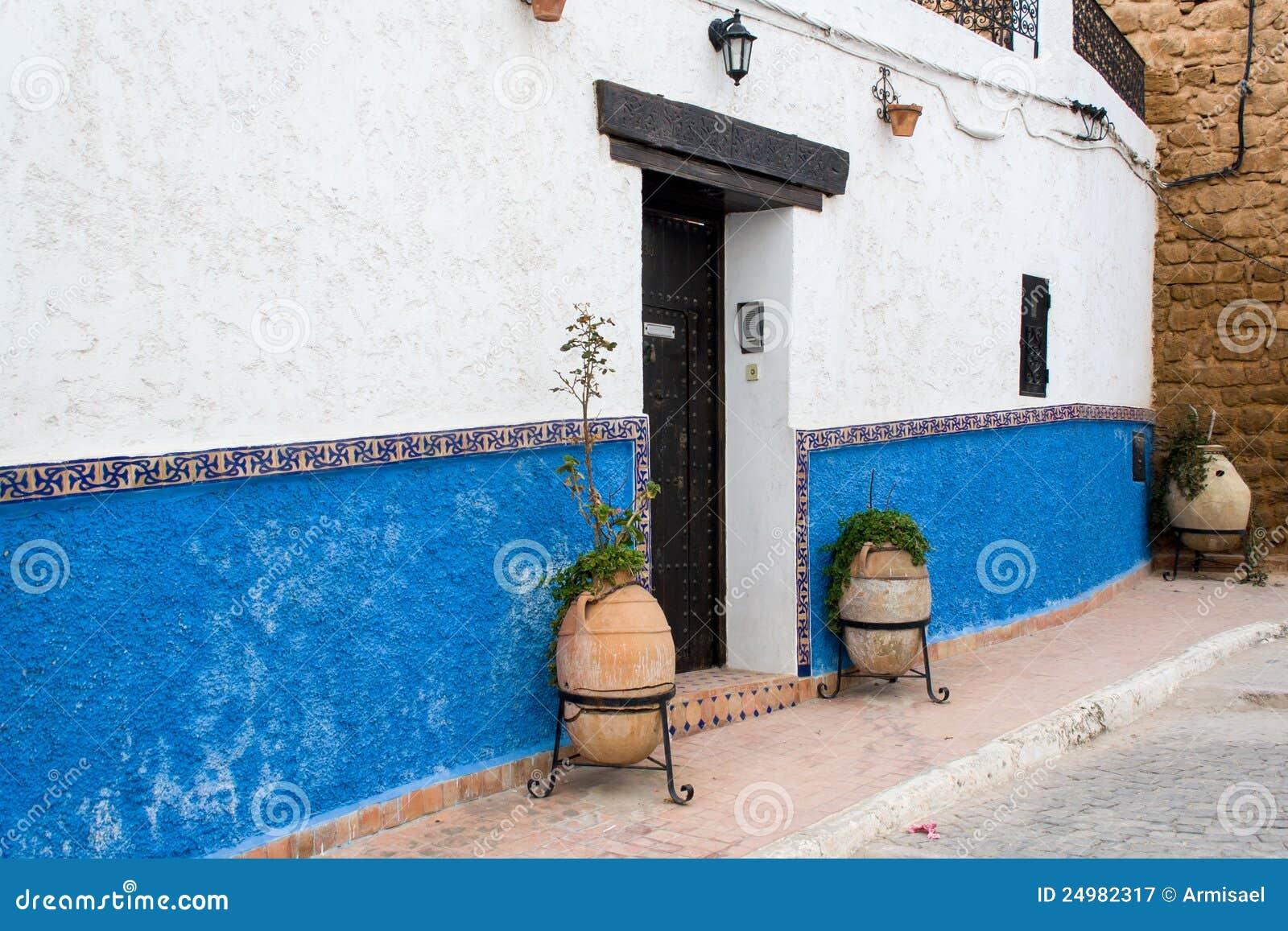 Door Of A House In The Casbah Of Rabat