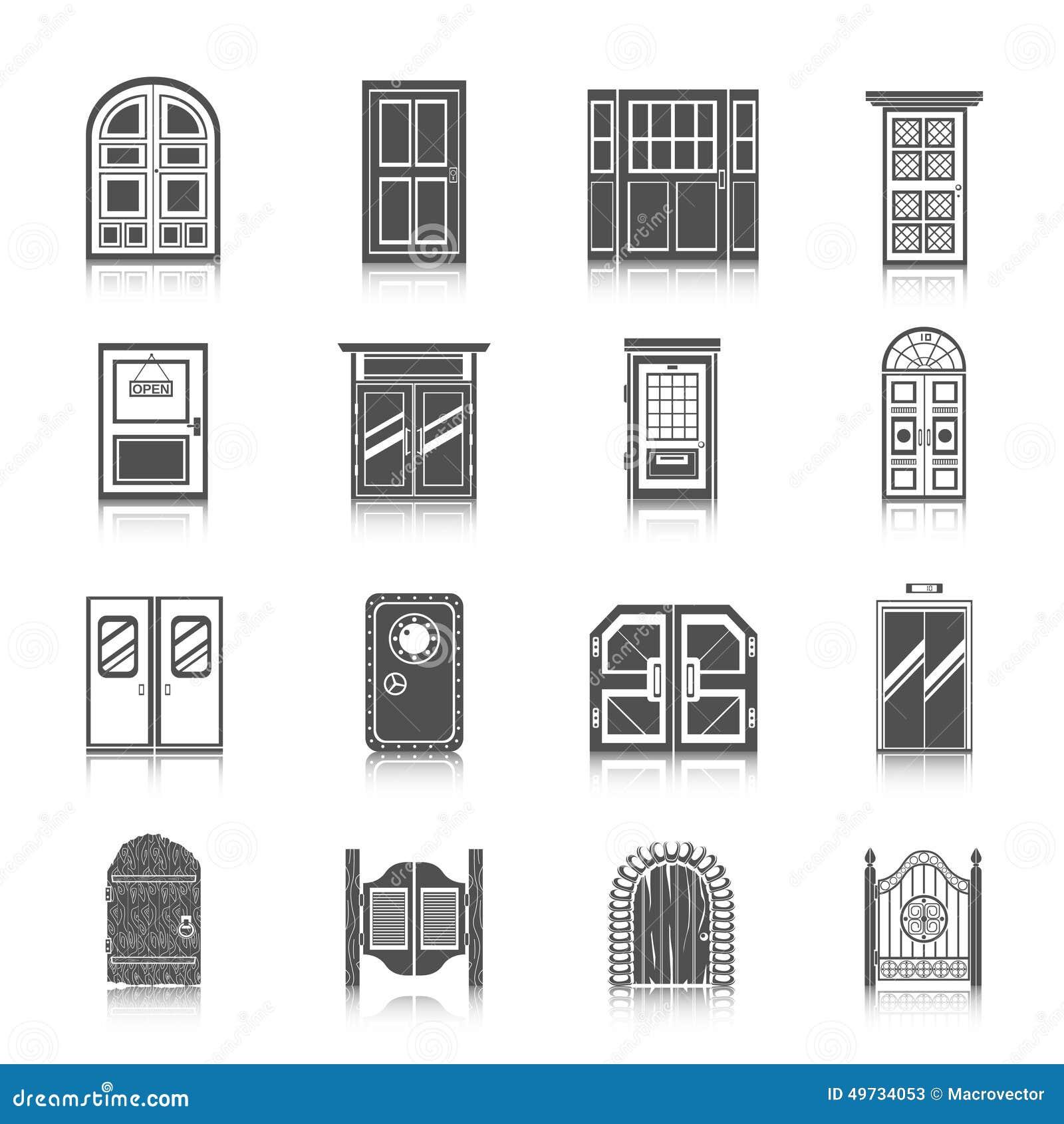 Royalty-Free Vector. Download Door Icons ...  sc 1 st  Dreamstime.com & Door Icons Set Stock Vector - Image: 49734053 pezcame.com