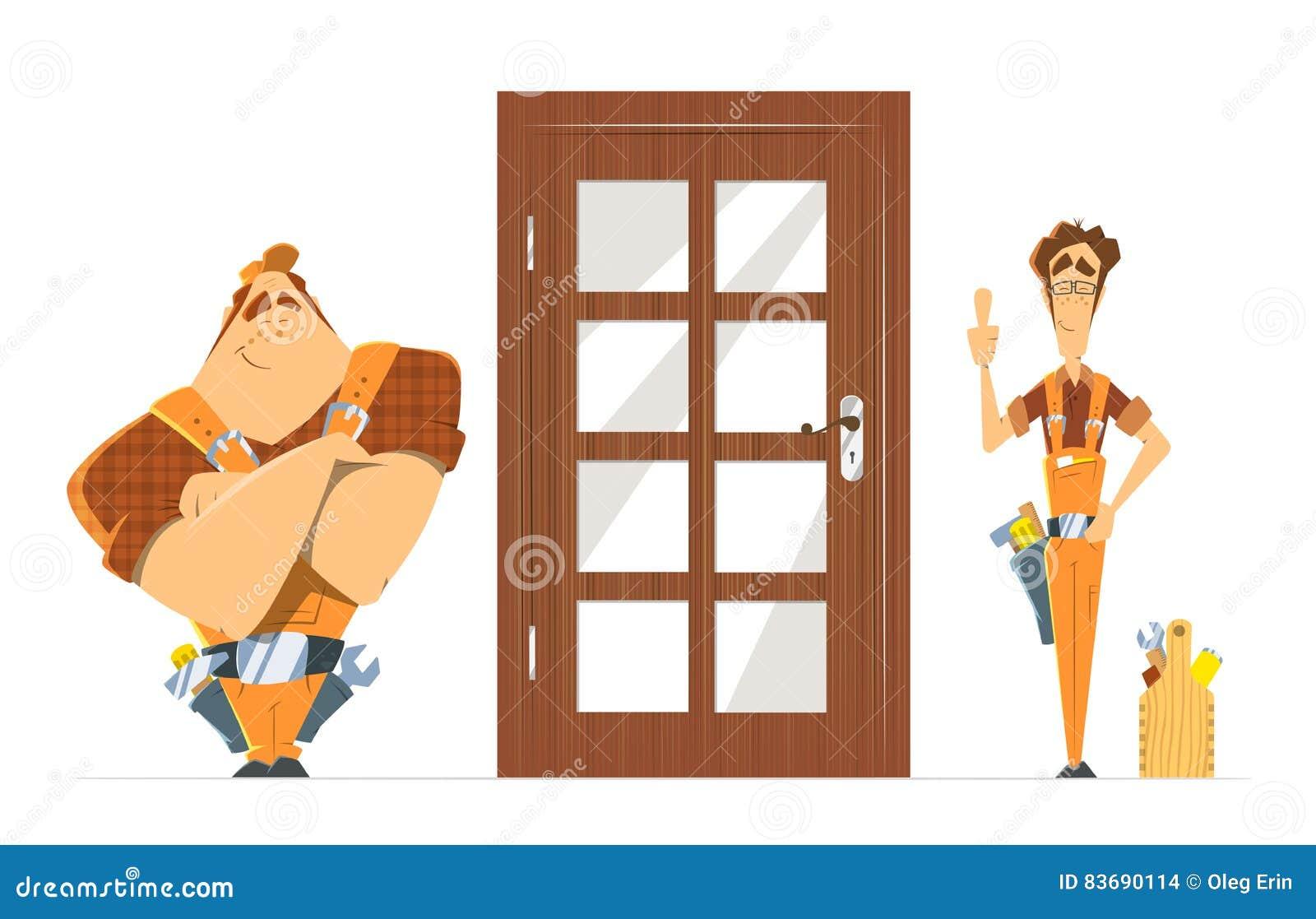 Joiner cartoons illustrations vector stock images 451 for Door unlock service